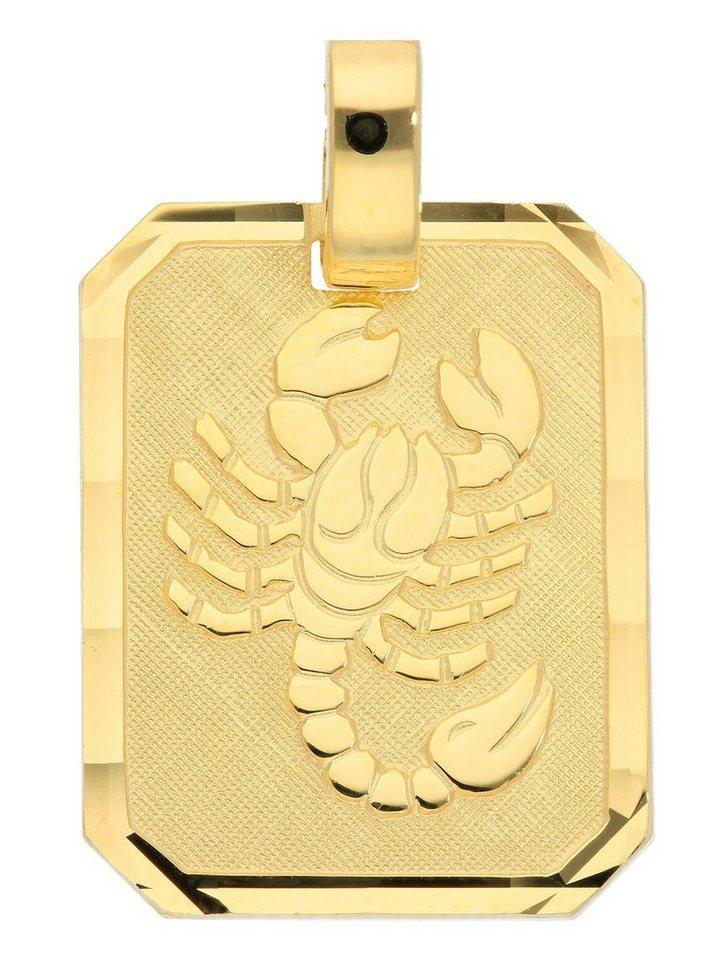 Adelia´s Kettenanhänger »Gold 8 k (333) Sternzeichen Anhänger« Skorpion 8 k 333 Gelbgold   Schmuck > Halsketten > Ketten ohne Anhänger   Goldfarben   Adelia´s