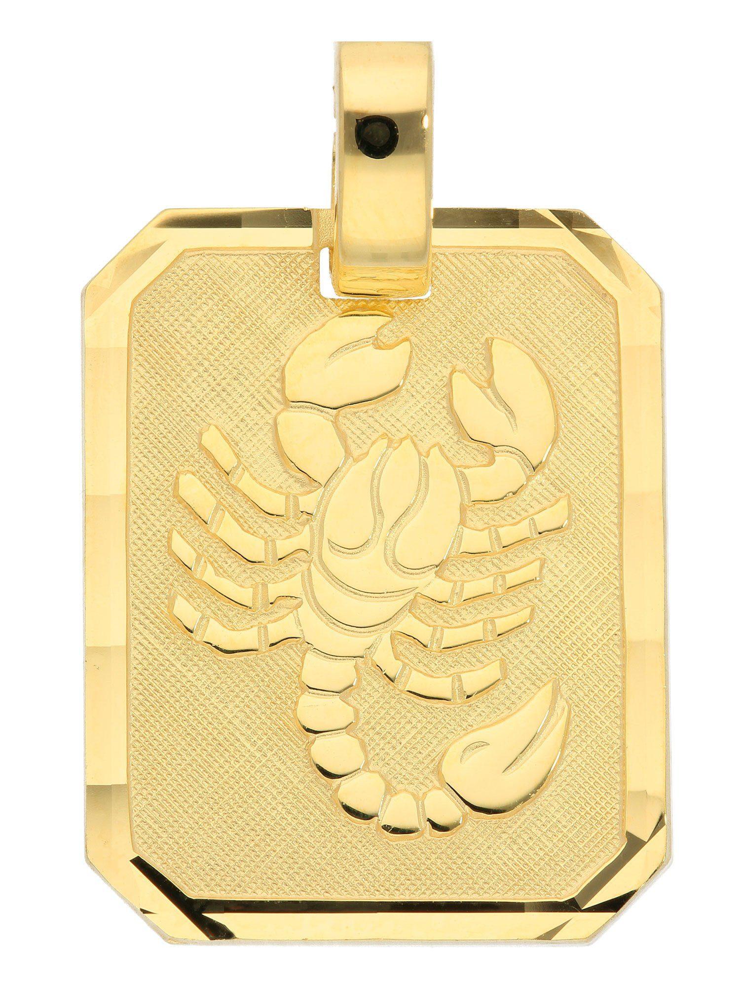 Adelia´s Kettenanhänger »Sternzeichen Gold Anhänger« Skorpion 8 k 333 Gelbgold