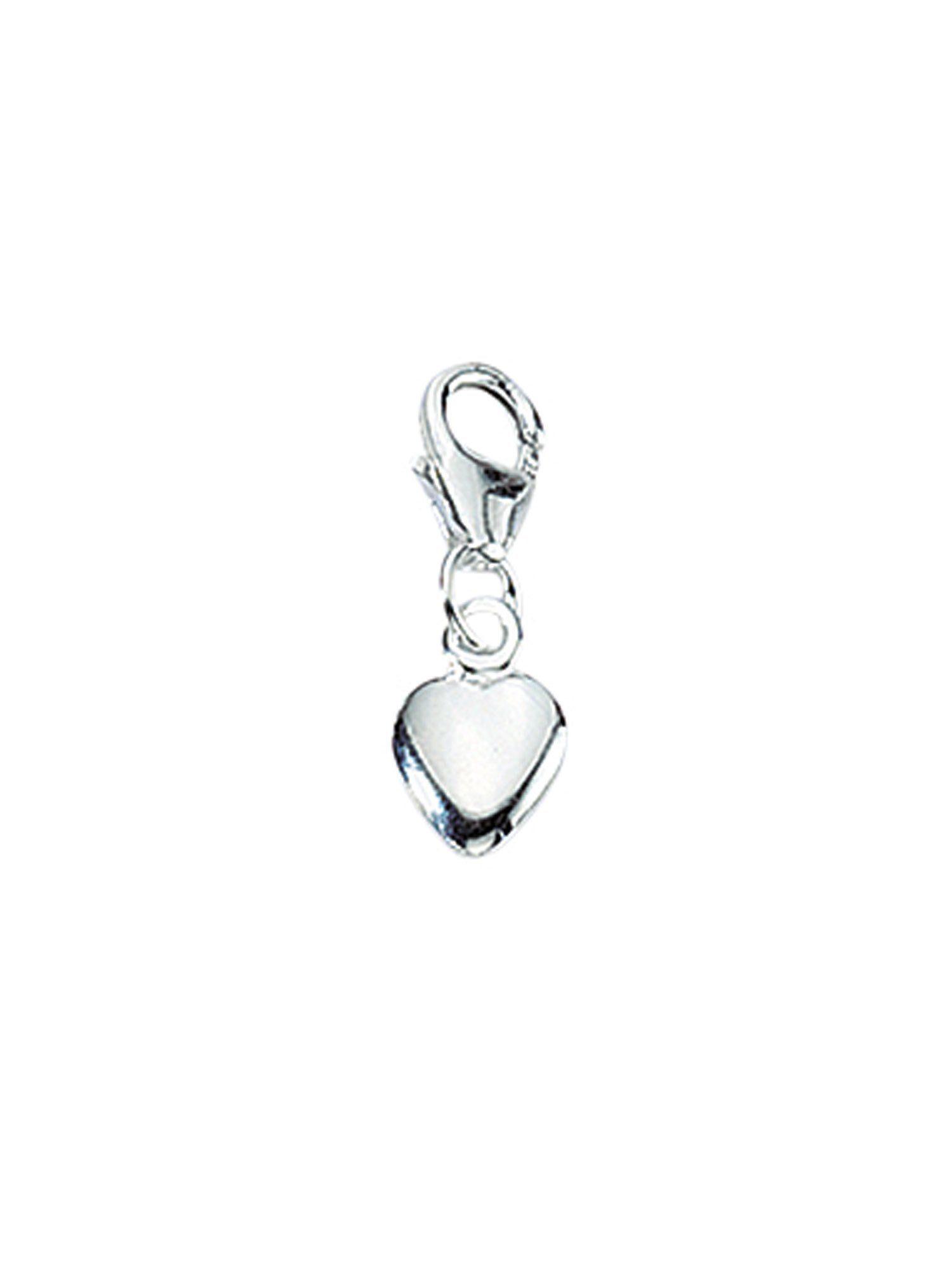Adelia´s Charm-Einhänger »Silber Anhänger« Herz 925 Sterling Silber