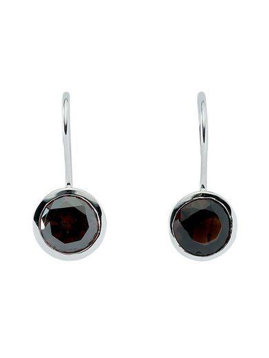 Adelia´s Paar Ohrhänger »Silber 925 Sterling Silver Ohrringe - Ohrhänger« 925 Sterling Silber mit Zirkonia Ø 9.7 mm