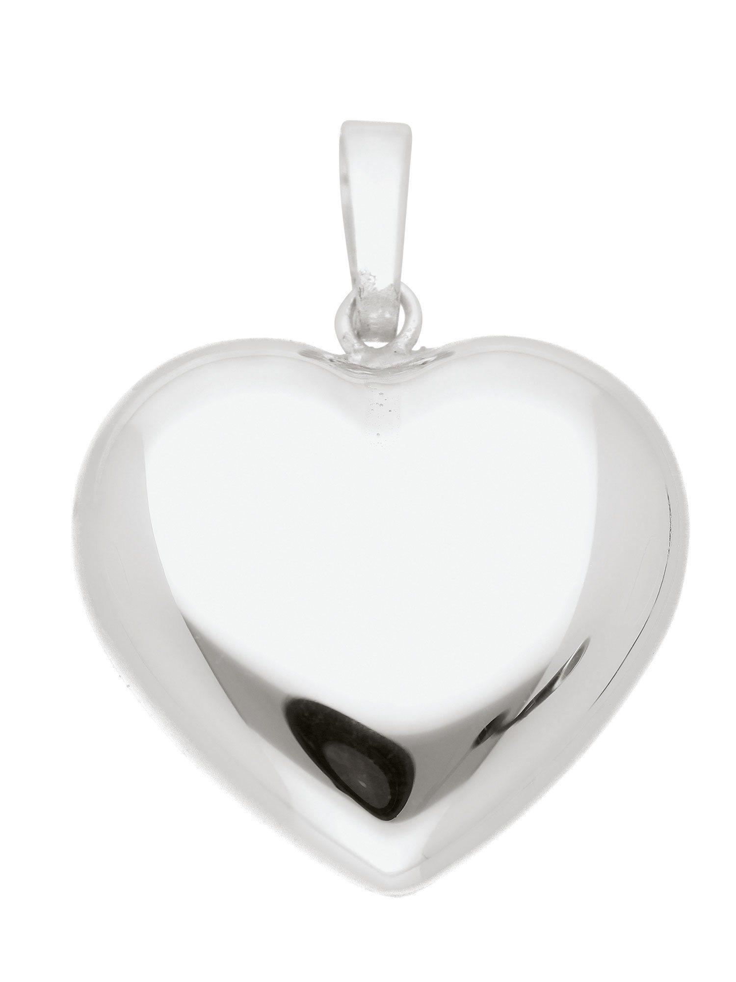 Adelia´s Kettenanhänger »Silber Anhänger«, Herz 925 Sterling Silber | Schmuck > Halsketten > Ketten ohne Anhänger | Silber | Adelia´s