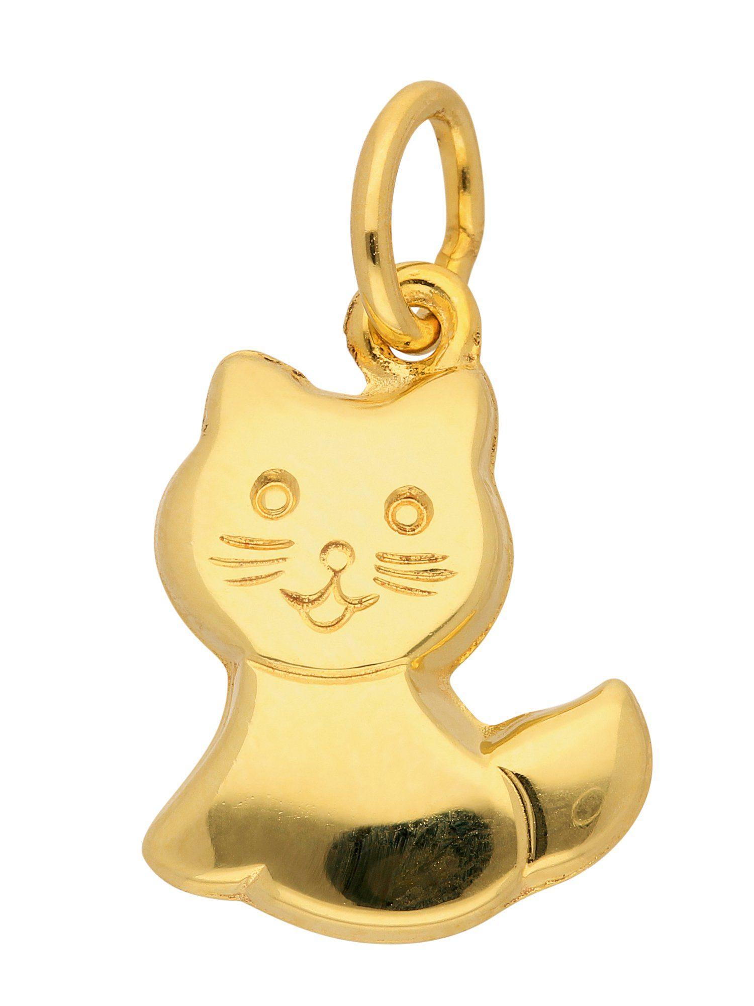 Adelia´s Kettenanhänger »Gold 8 k (333) Motiv - Anhänger« Katze 8 k 333 Gelbgold