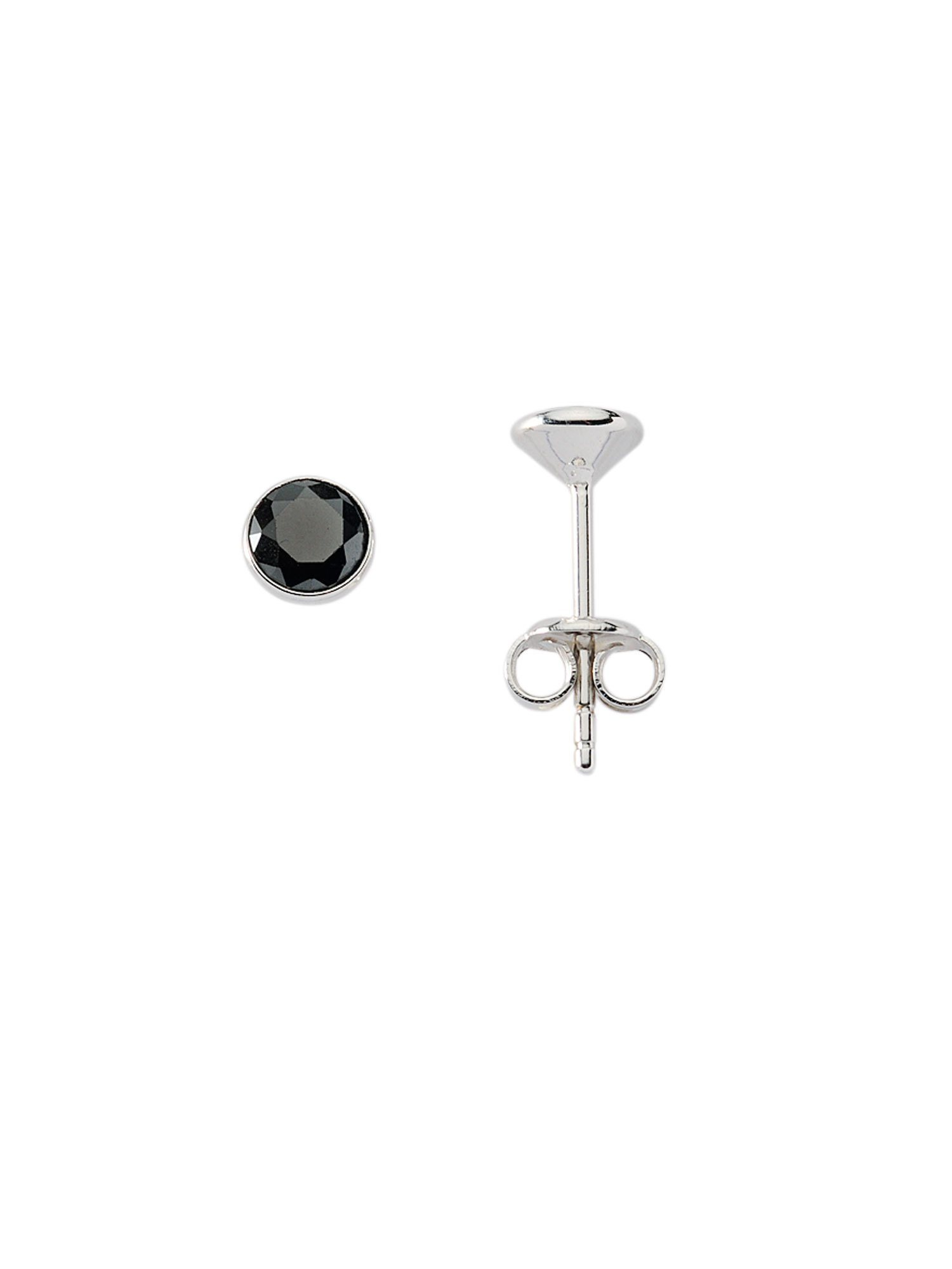 Adelia´s Paar Ohrstecker »Silber Ohrringe«, 925 Sterling Silber mit Zirkonia Ø 6.6 mm | Schmuck > Ohrschmuck & Ohrringe > Ohrstecker | Silber | Adelia´s