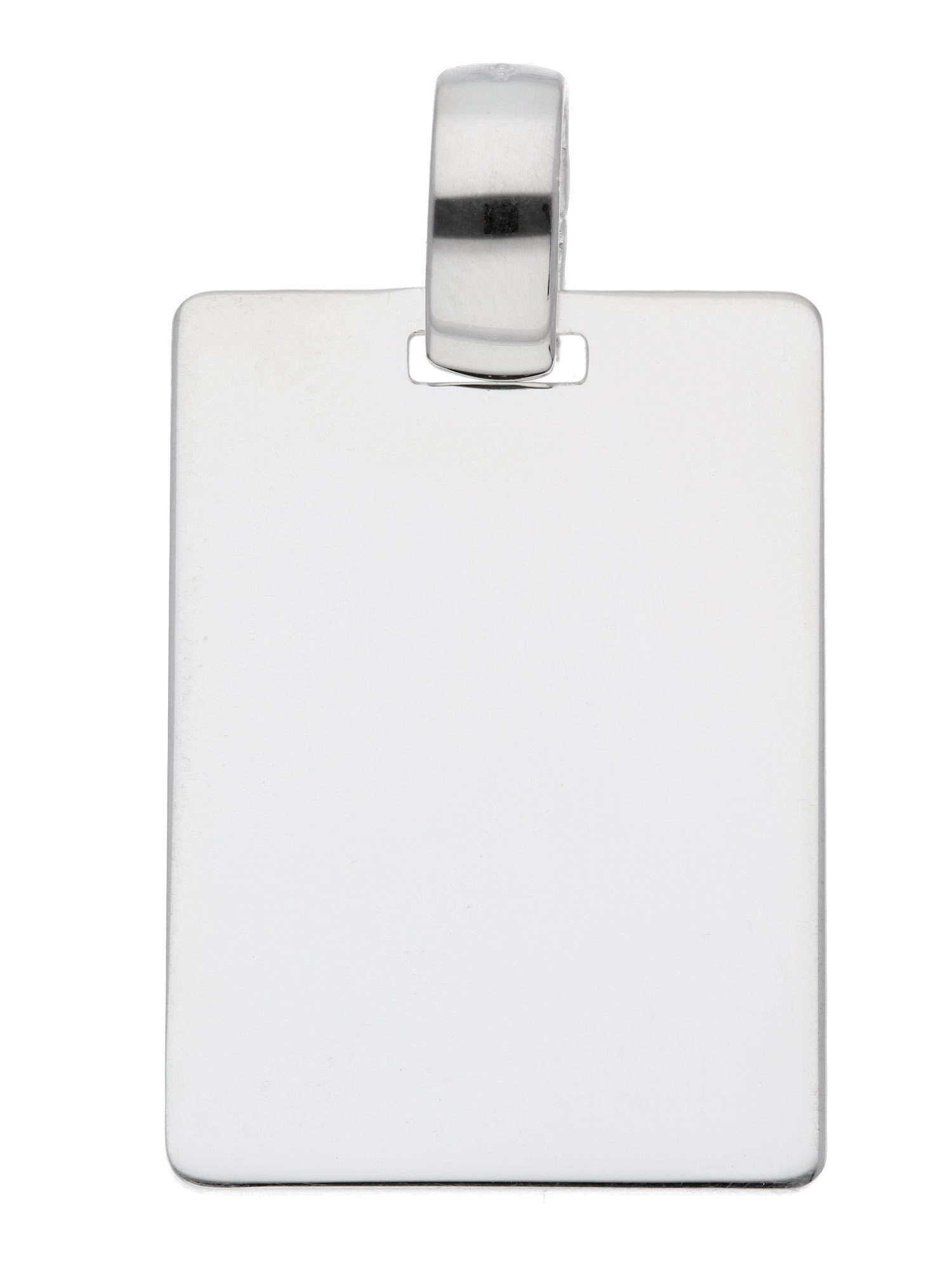 Adelia´s Kettenanhänger »Silber Gravurplatte« 925 Sterling Silber