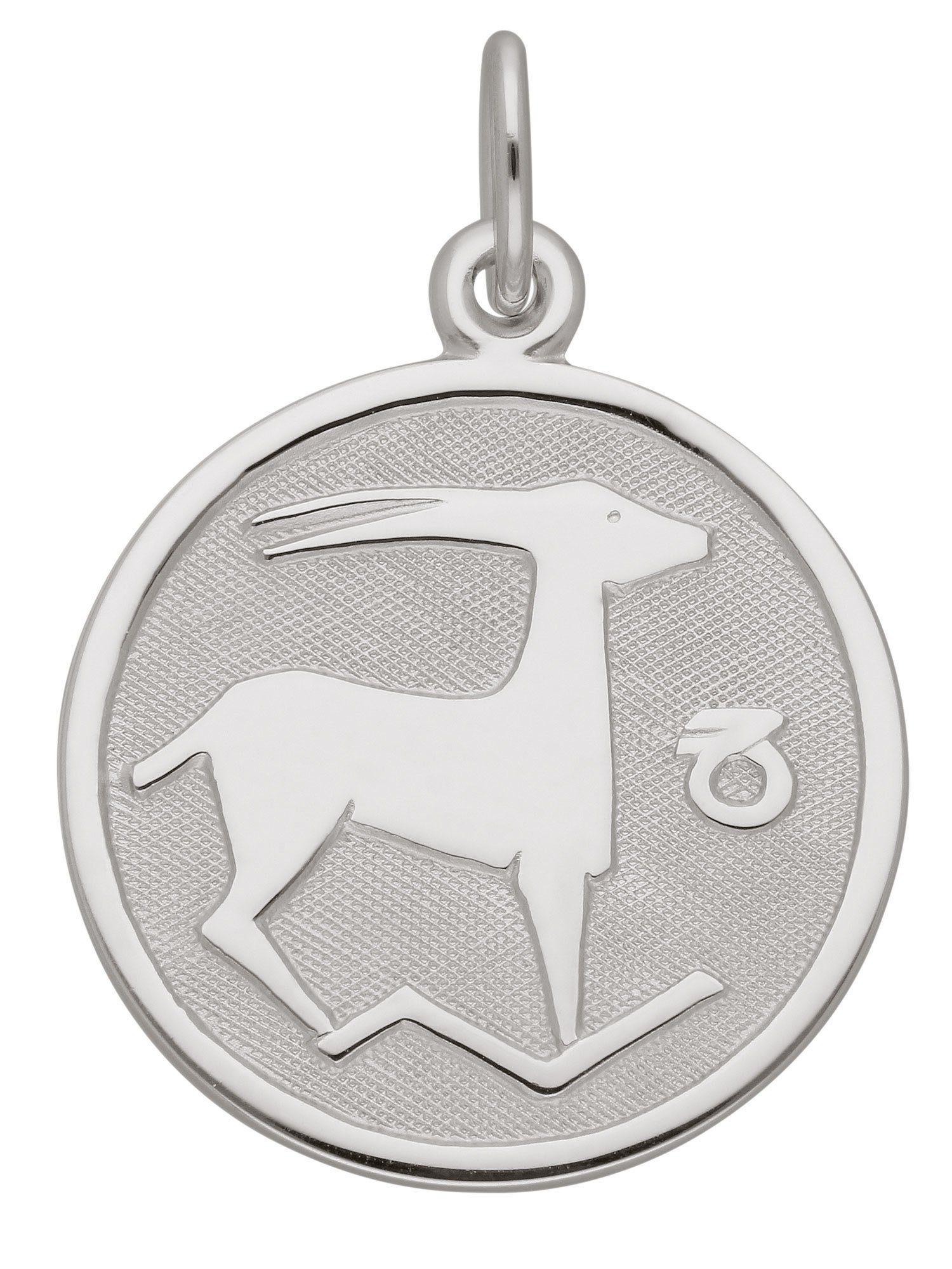 Adelia´s Kettenanhänger »Silber 925 Sterling Silver Sternzeichen Anhänger« Steinbock 925 Sterling Silber Ø 1.57 cm