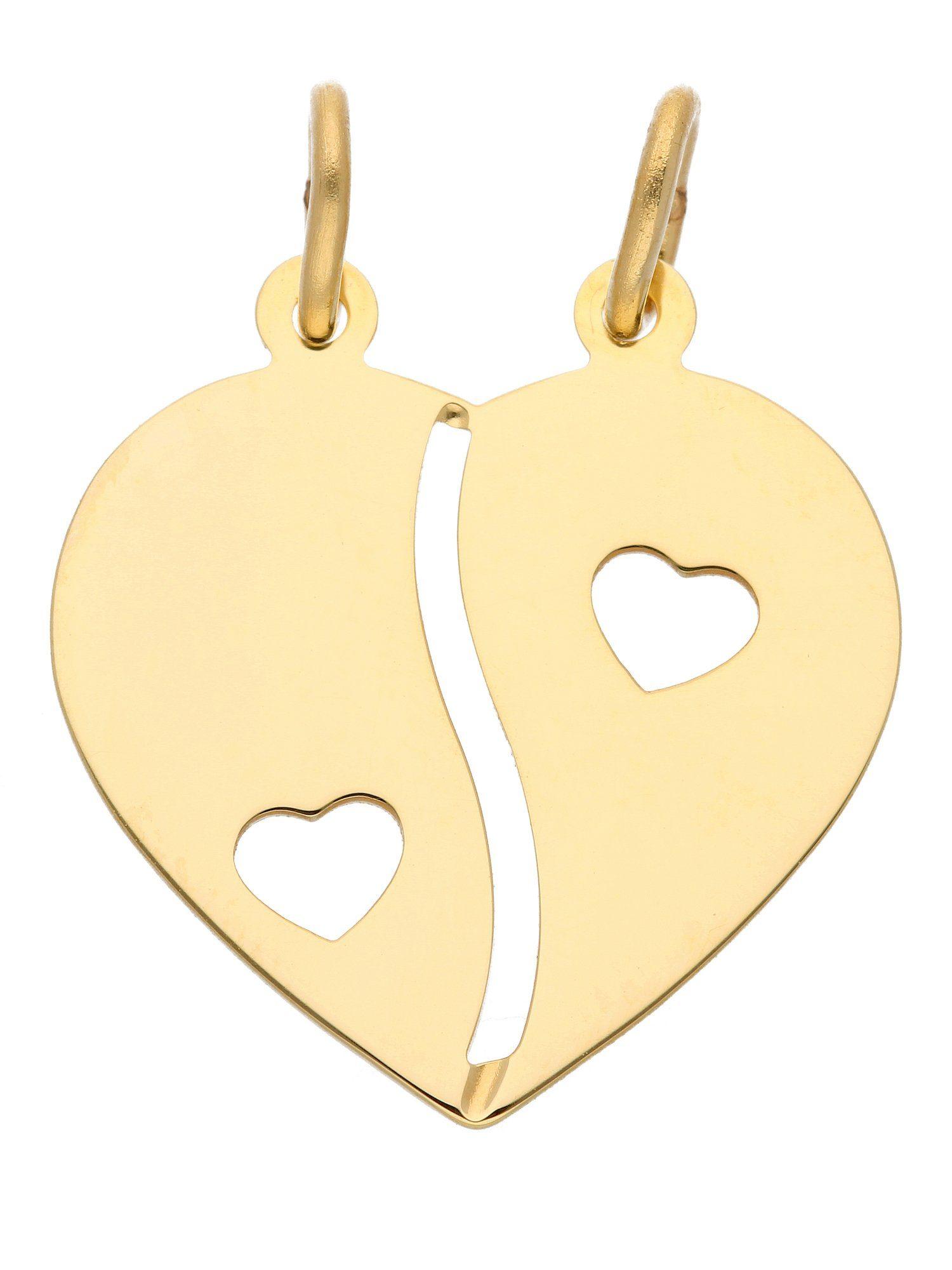 Adelia´s Kettenanhänger »Gold Anhänger« Partneranhänger 8 k 333 Gelbgold