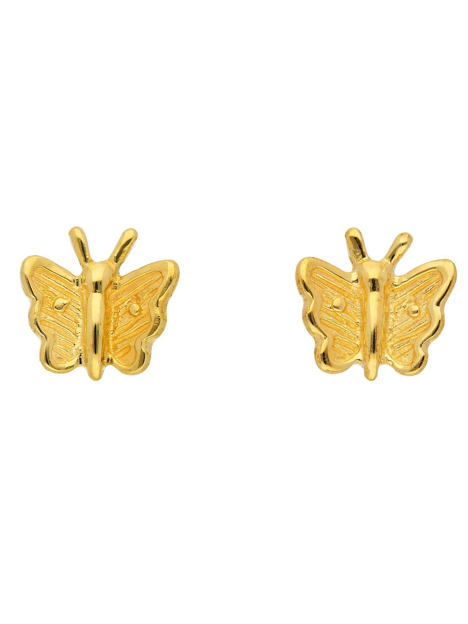 Adelia´s Paar Ohrstecker »Gold Ohrringe«, Schmetterling 8 k 333 Gelbgold