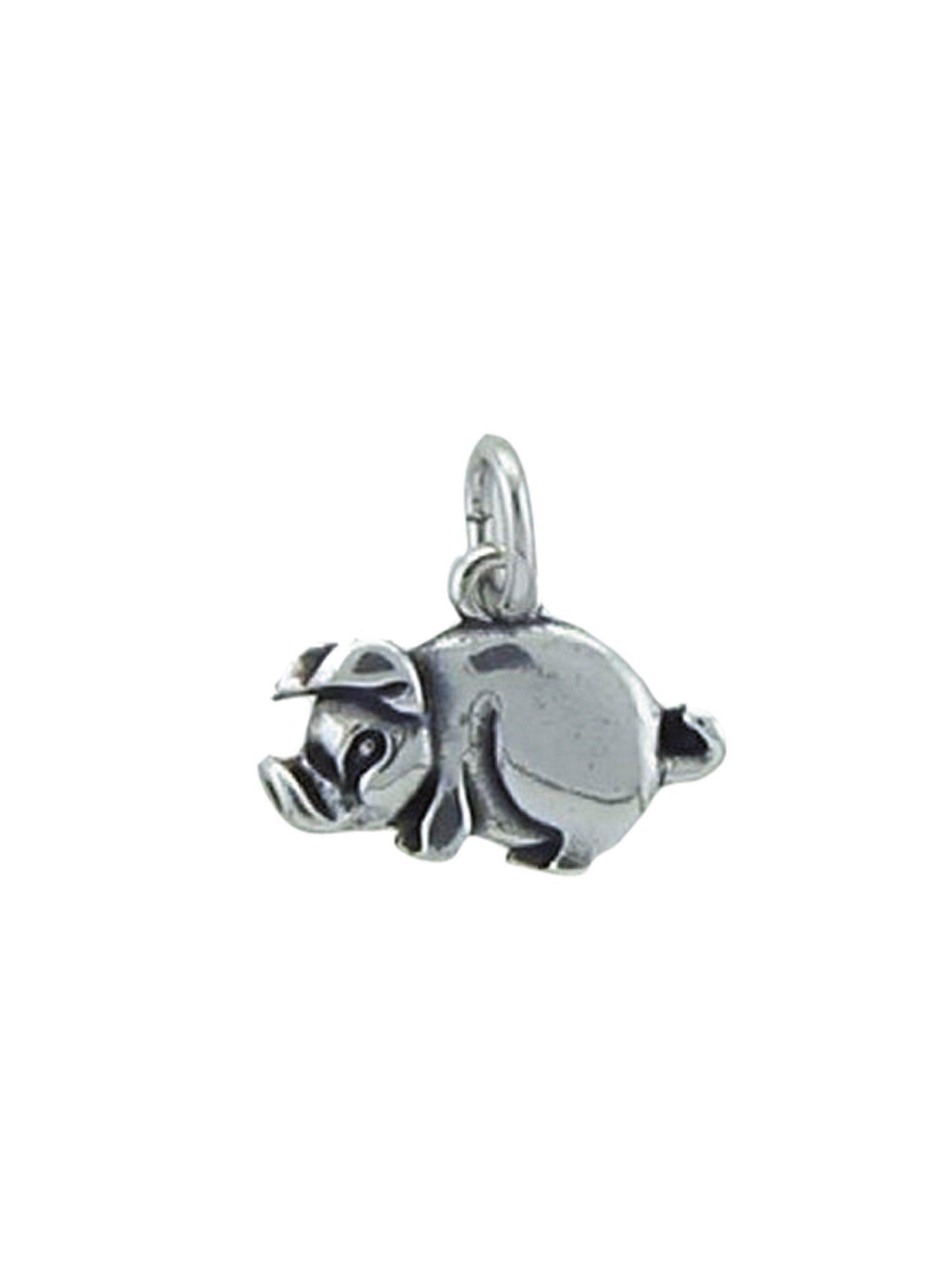 Adelia´s Kettenanhänger »Silber Anhänger« Schwein 925 Sterling Silber