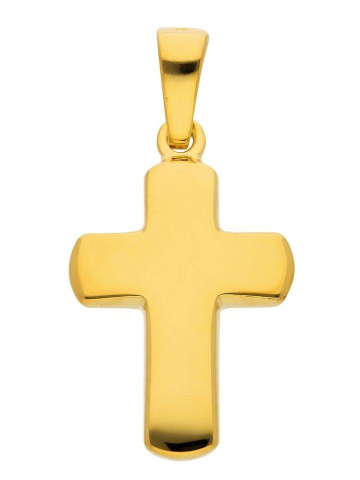 Adelia´s Kettenanhänger »Silber 925 Sterling Silver Kreuz Anhänger« 925 Sterling Silber vergoldet | Schmuck > Halsketten > Ketten ohne Anhänger | Goldfarben | Adelia´s