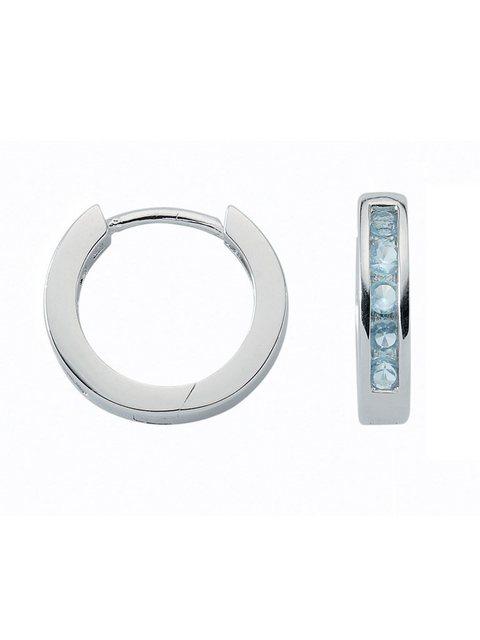 Adelia´s Paar Creolen »Silber Ohrringe« 925 Sterling Silber mit Zirkonia Ø 1.5 cm   Schmuck > Ohrschmuck & Ohrringe > Creolen   Bunt   Adelia´s