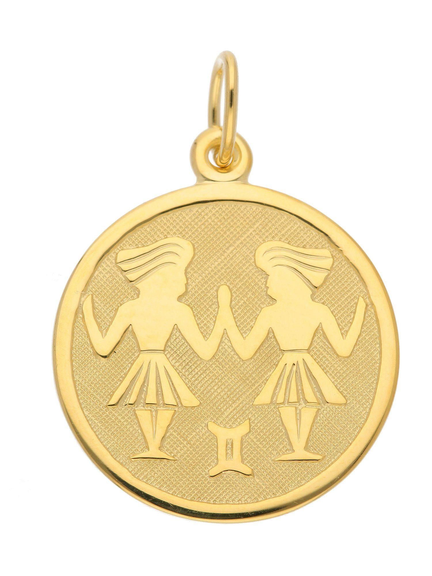 Adelia´s Kettenanhänger »Sternzeichen Gold Anhänger« Zwilling 8 k 333 Gelbgold Ø 1.6 cm