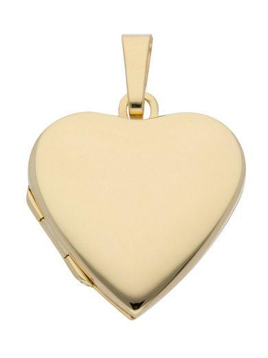 Adelia´s Kettenanhänger »Gold 14 k (585) Medaillon Anhänger«, 14 k 585 Gelbgold