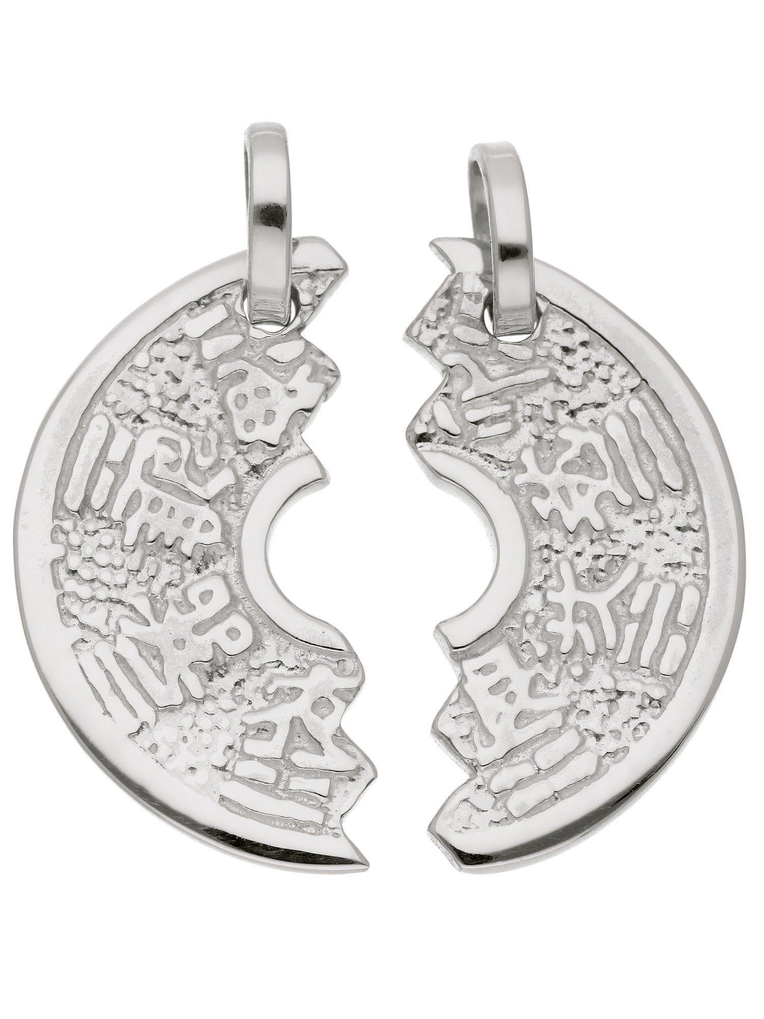 Adelia´s Kettenanhänger »Silber Anhänger«, Partneranhänger 925 Sterling Silber Ø 1.83 cm | Schmuck > Halsketten > Ketten ohne Anhänger | Silber | Adelia´s