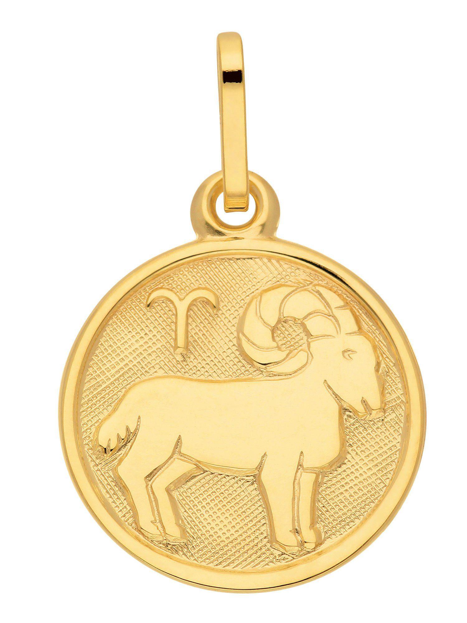 Adelia´s Kettenanhänger »Sternzeichen Gold Anhänger« Widder 8 k 333 Gelbgold Ø 1.18 cm