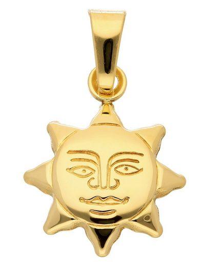 Adelia´s Kettenanhänger »333 Gold Anhänger Sonne«, Goldschmuck für Damen