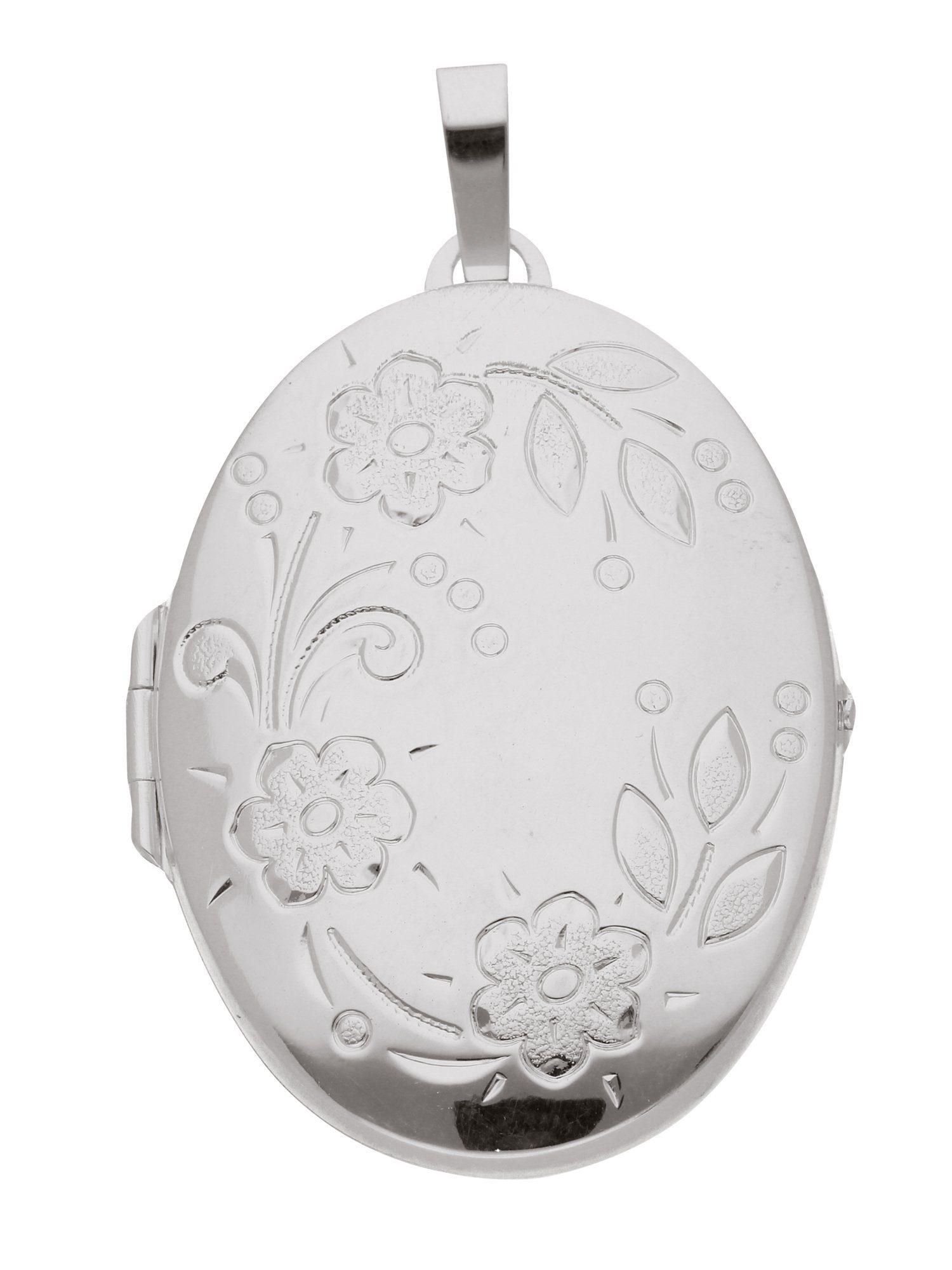 Adelia´s Kettenanhänger »Medaillon Silber Anhänger« 925 Sterling Silber