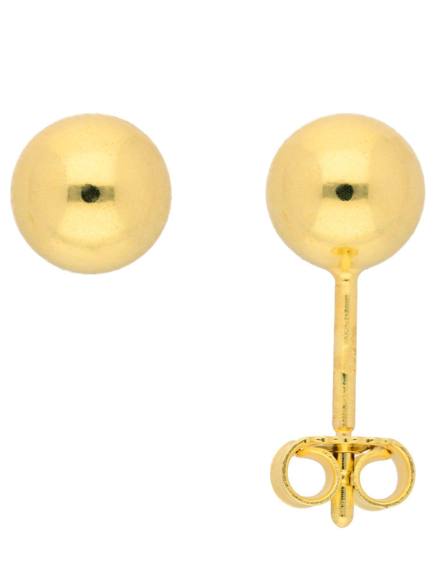 Adelia´s Paar Ohrstecker »Gold Ohrringe« 14 k 585 Gelbgold Ø 6 mm