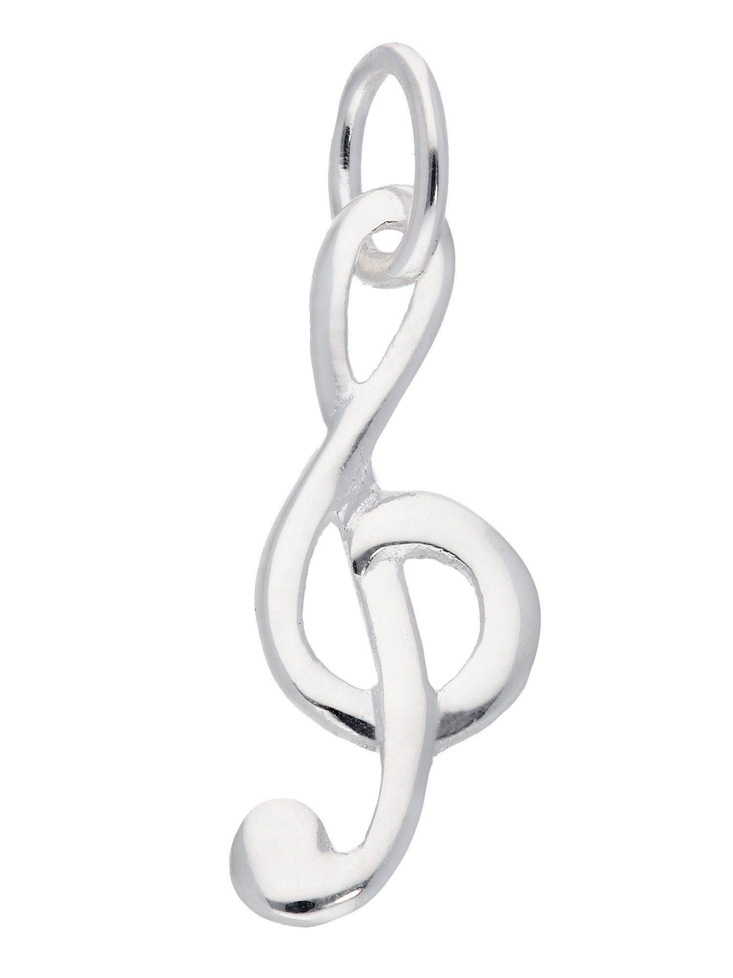 Adelia´s Kettenanhänger »Silber Anhänger« Notenschlüssel 925 Sterling Silber