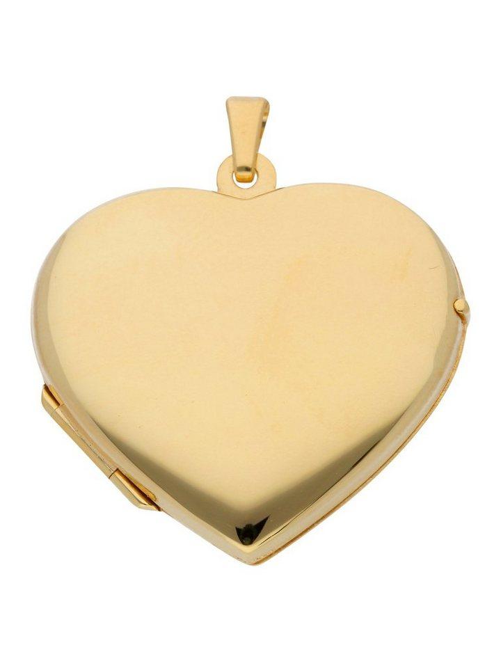 Adelia´s Kettenanhänger »Gold 8 k (333) Medaillon Anhänger« 333 Gelbgold