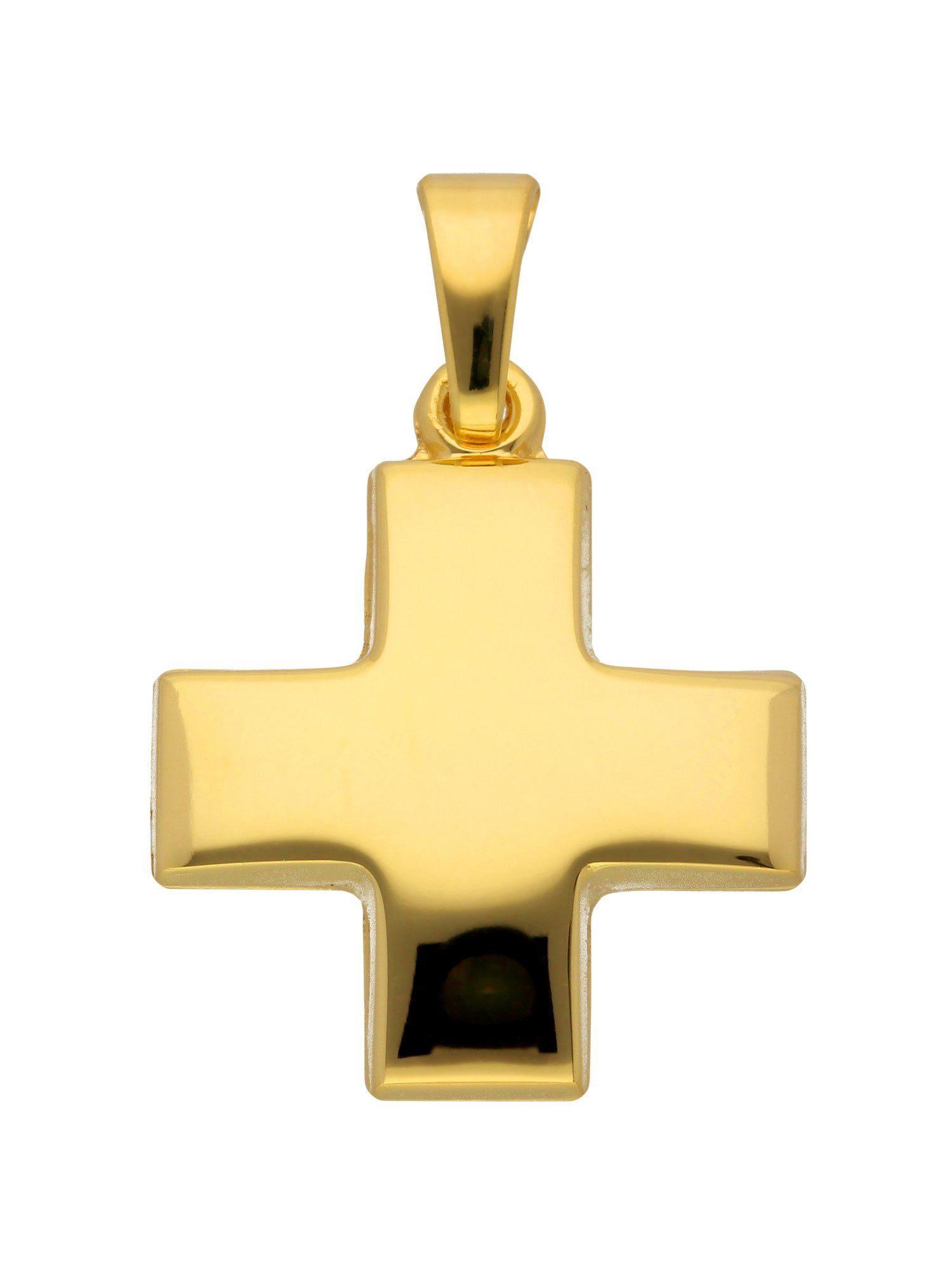 Adelia´s Kettenanhänger »Gold 14 k (585) Kreuz Anhänger« 14 k 585 Gelbgold
