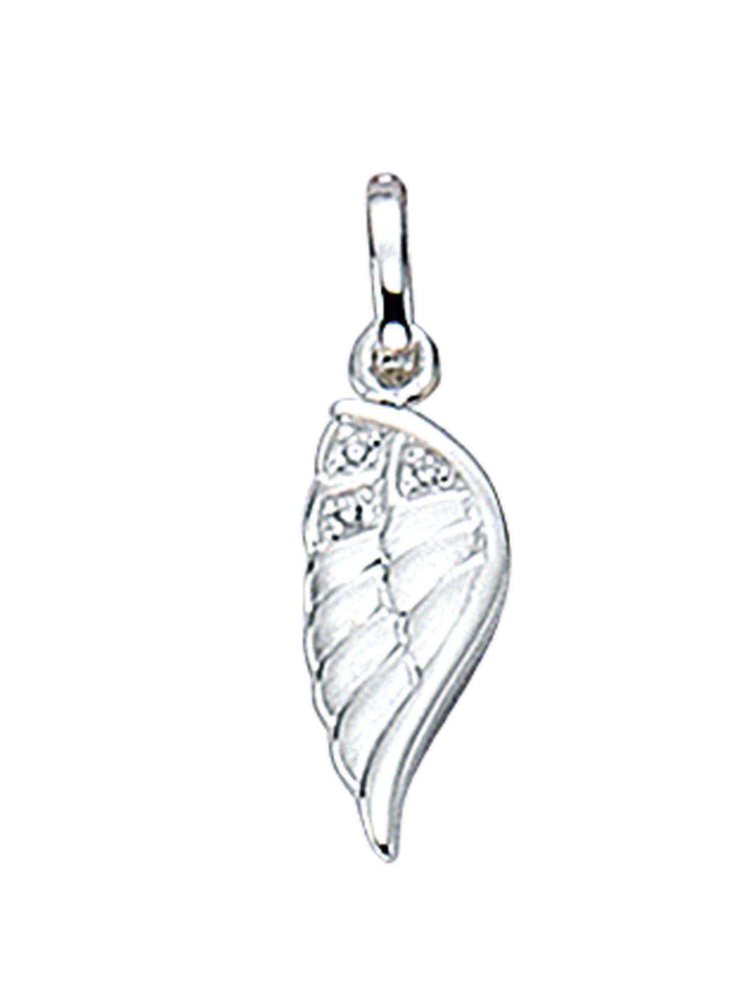Adelia´s Charm-Einhänger »Silber Anhänger« Fluegel 925 Sterling Silber mit Zirkonia