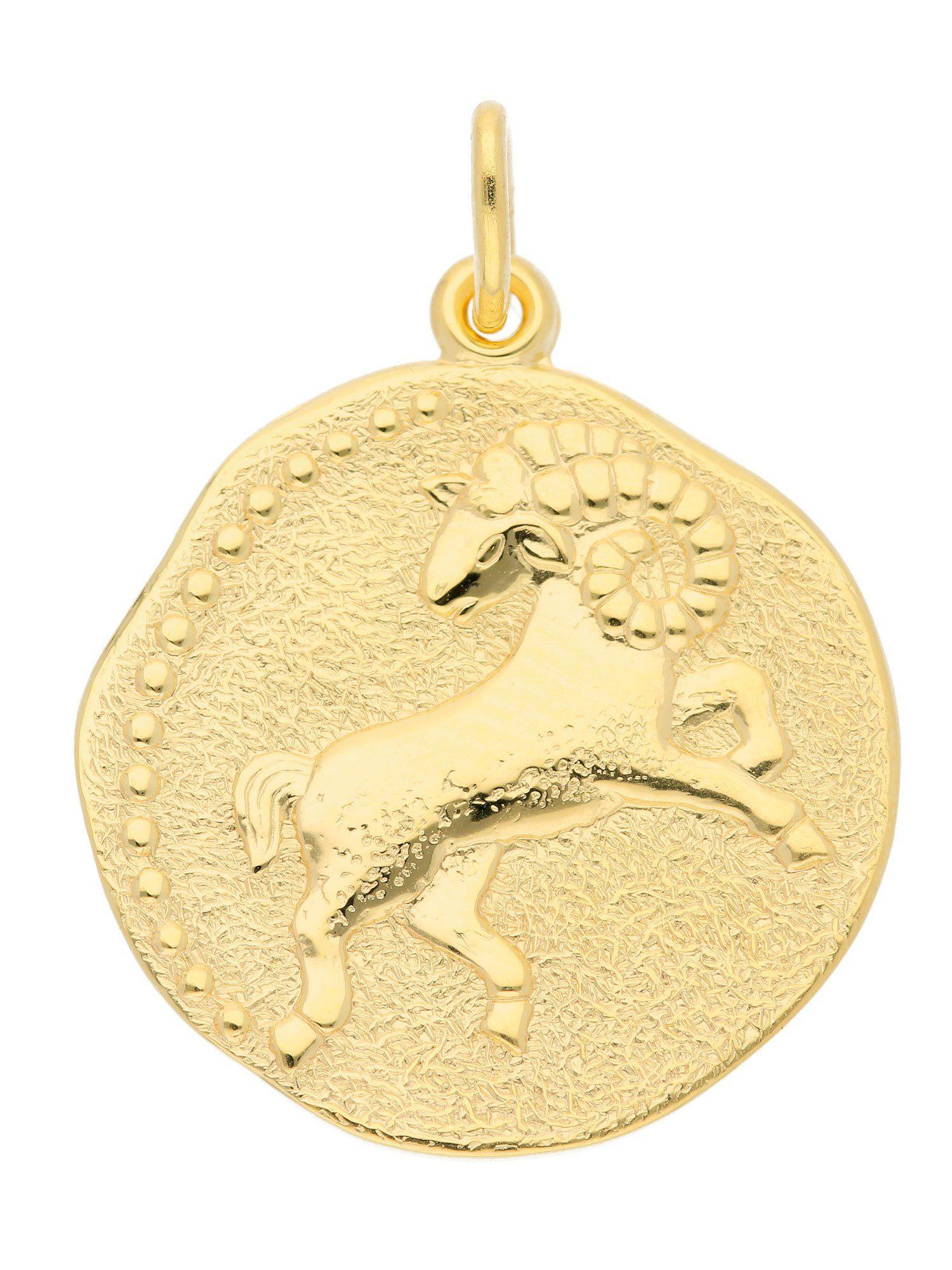Adelia´s Kettenanhänger »Gold 8 k (333) Sternzeichen Anhänger« Widder 8 k 333 Gelbgold Ø 1.82 cm