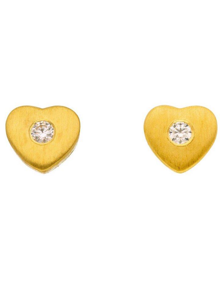 Adelia´s Paar Ohrstecker »Gold 8 k (333) Ohrringe - Ohrstecker« 8 k 333 Gelbgold mit Zirkonia | Schmuck > Ohrschmuck & Ohrringe > Ohrstecker | Goldfarben | Adelia´s
