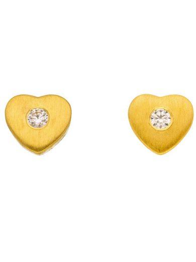 Adelia´s Paar Ohrstecker »Gold 8 k (333) Ohrringe - Ohrstecker«, 8 k 333 Gelbgold mit Zirkonia