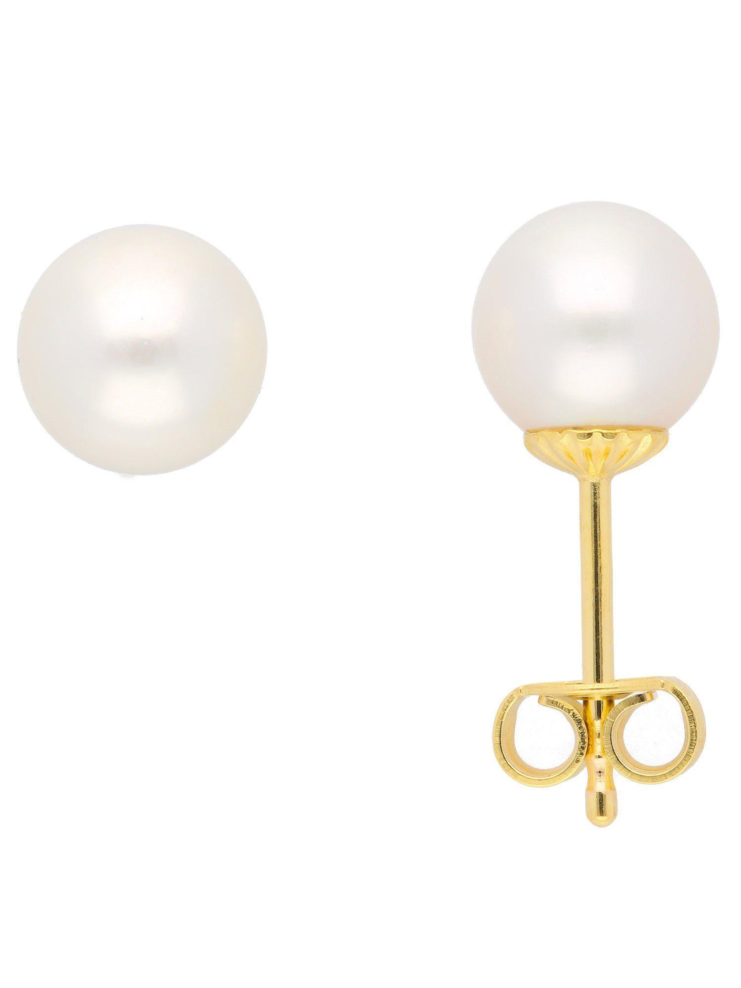 Adelia´s Paar Ohrstecker »Gold Ohrringe« 8 k 333 Gelbgold mit Süßwasser Zuchtperle
