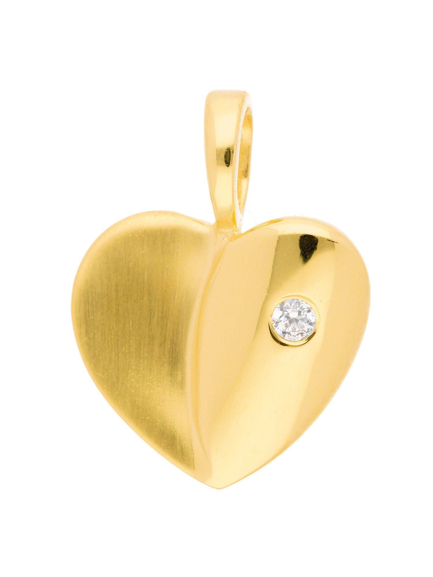 Adelia´s Kettenanhänger »Gold 8 k (333) Motiv - Anhänger« Herz 8 k 333 Gelbgold mit Zirkonia