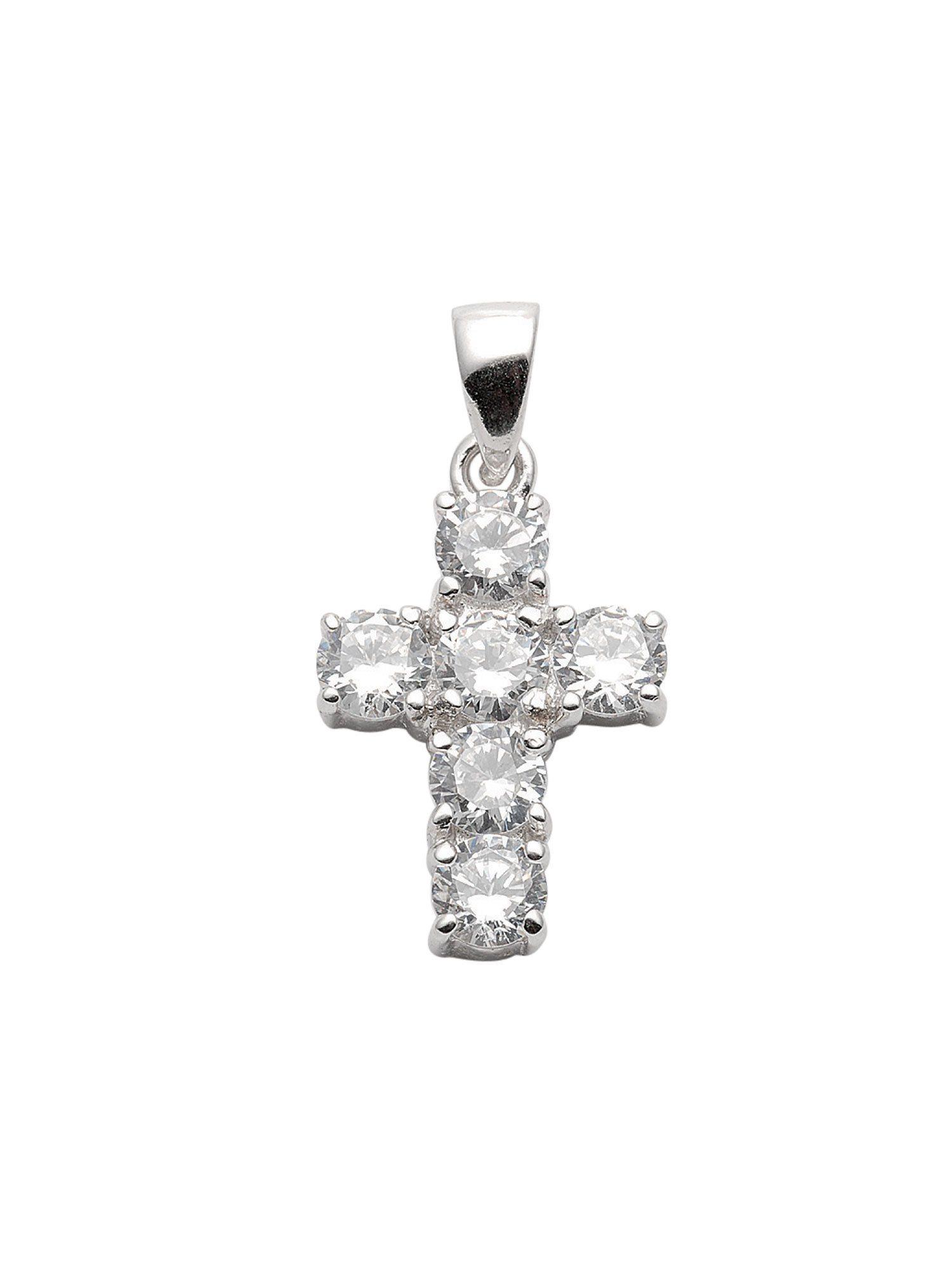 Adelia´s Kettenanhänger »Silber Anhänger« 925 Sterling Silber mit Zirkonia   Schmuck > Halsketten > Ketten ohne Anhänger   Silber   Adelia´s
