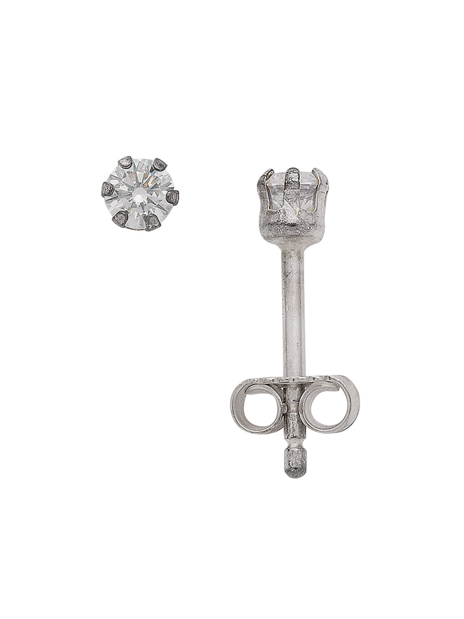 Adelia´s Paar Ohrstecker »Silber Ohrringe« 925 Sterling Silber mit Zirkonia Ø 3 mm | Schmuck > Ohrschmuck & Ohrringe > Ohrstecker | Silber | Adelia´s