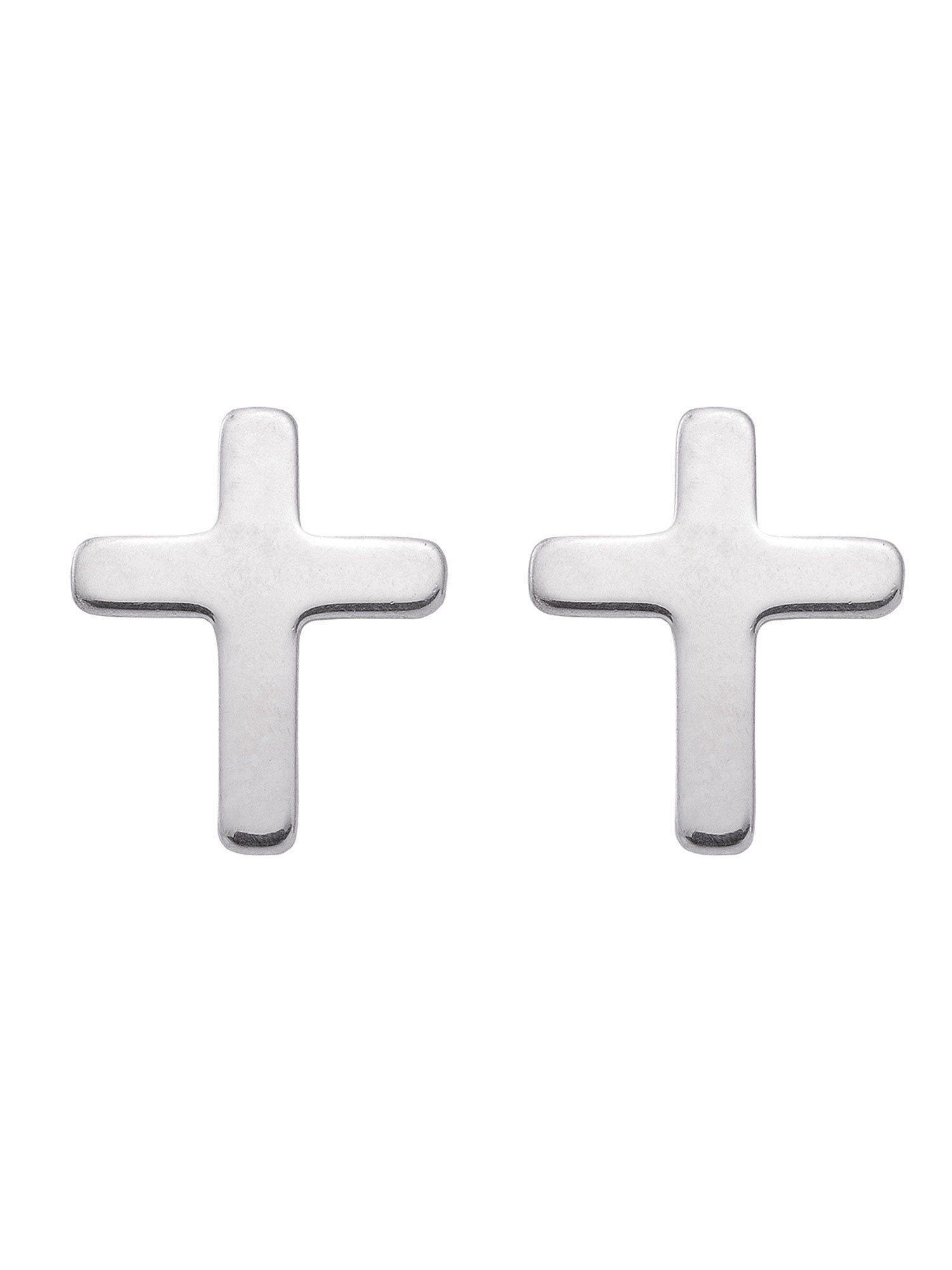 Adelia´s Paar Ohrstecker »Silber Ohrringe« Kreuz 925 Sterling Silber | Schmuck > Ohrschmuck & Ohrringe > Ohrstecker | Silber | Adelia´s