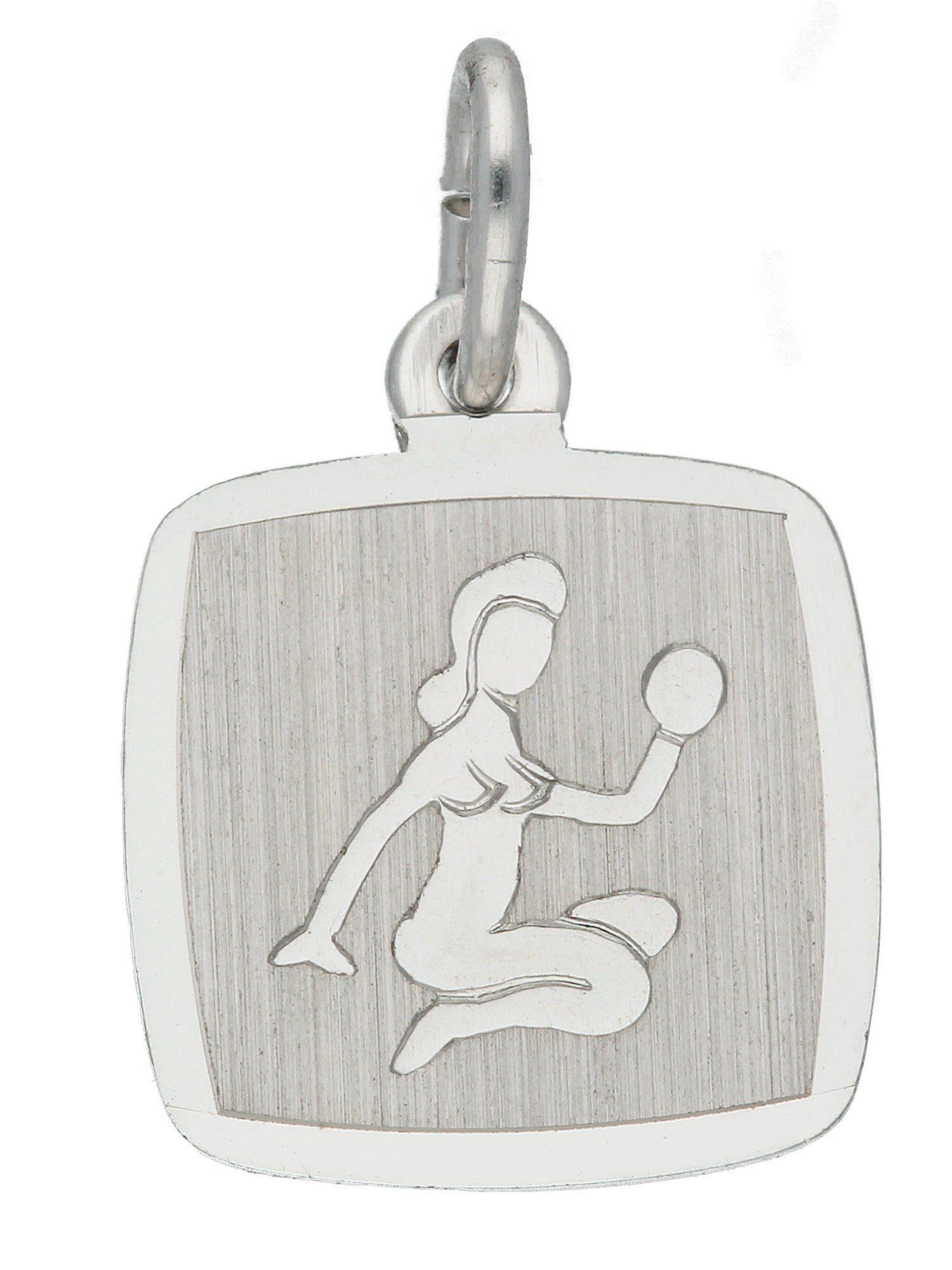 Adelia´s Kettenanhänger »Sternzeichen Silber Anhänger« Jungfrau 925 Sterling Silber