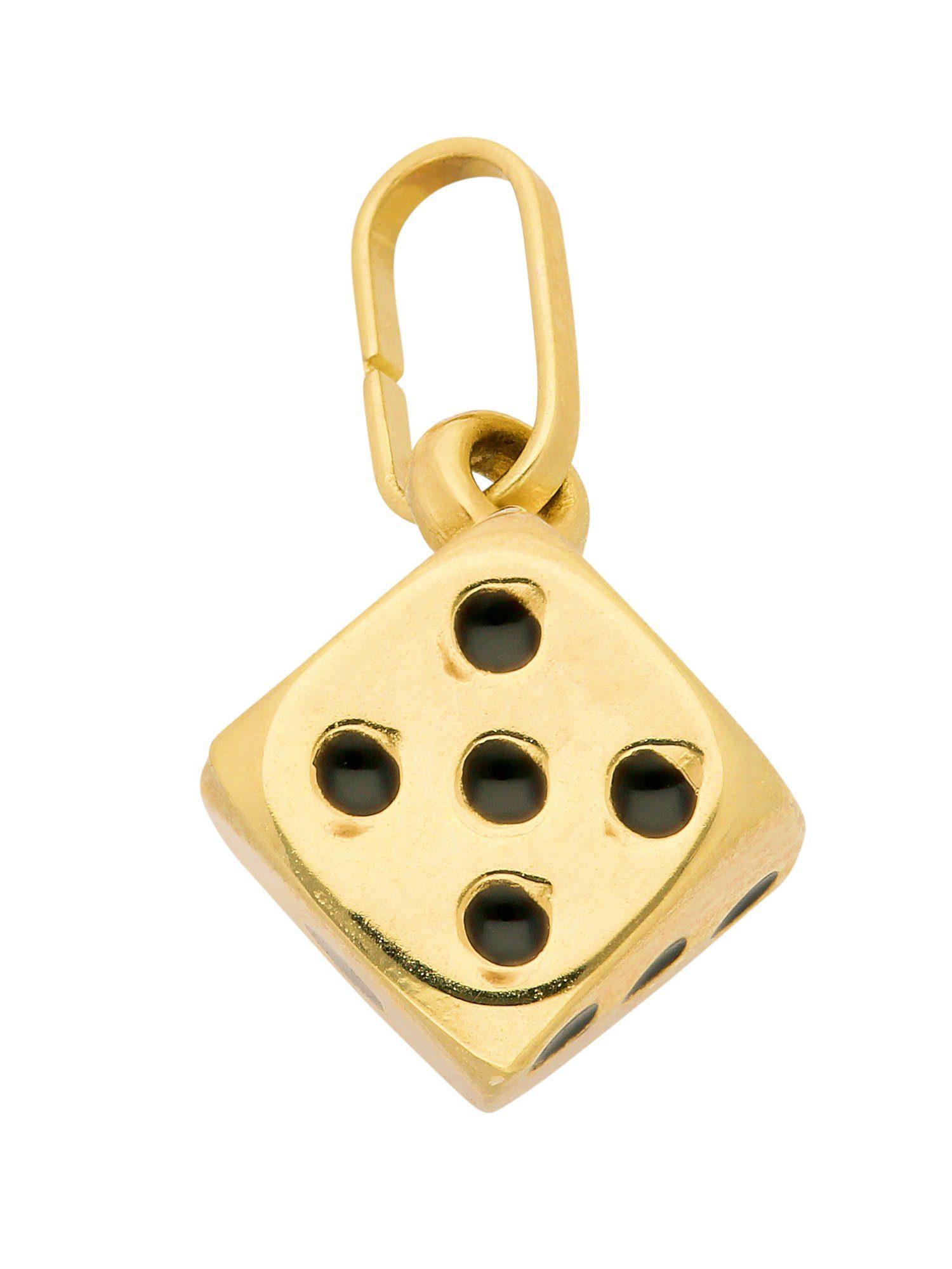Adelia´s Kettenanhänger »Gold Anhänger« Würfel 14 k 585 Gelbgold