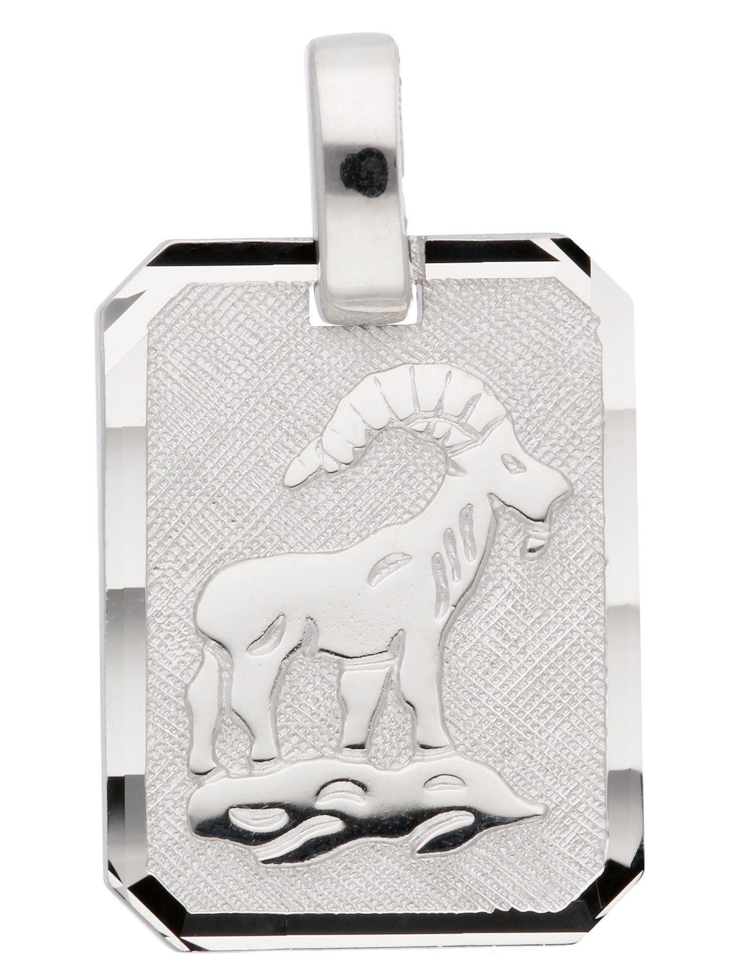Adelia´s Kettenanhänger »Sternzeichen Silber Anhänger« Steinbock 925 Sterling Silber   Schmuck > Halsketten > Ketten ohne Anhänger   Silber   Adelia´s