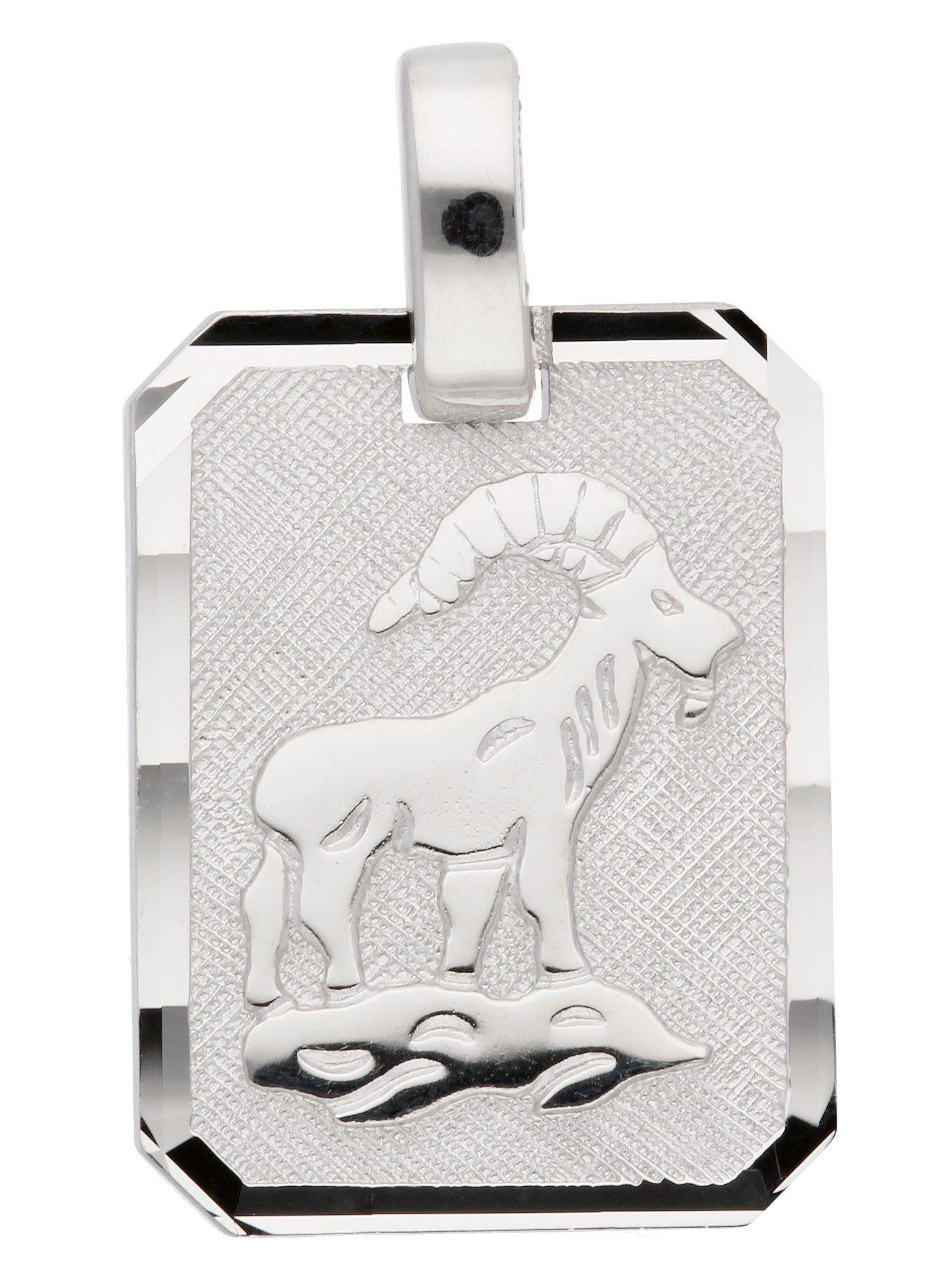 Adelia´s Kettenanhänger »Sternzeichen Silber Anhänger« Steinbock 925 Sterling Silber