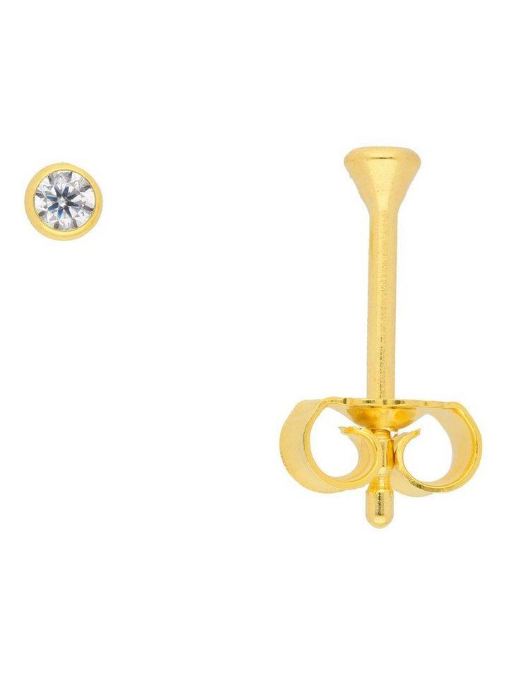 Adelia´s Paar Ohrstecker »Gold 8 k (333) Ohrringe - Ohrstecker« 8 k 333 Gelbgold mit Zirkonia Ø 2.5 mm | Schmuck > Ohrschmuck & Ohrringe > Ohrstecker | Goldfarben | Adelia´s