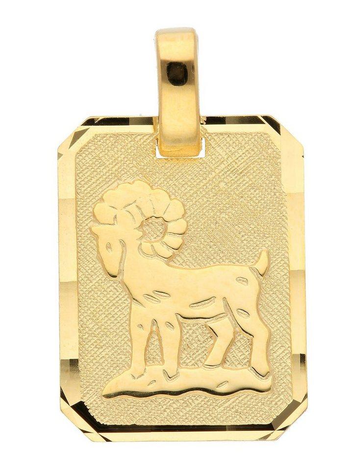 Adelia´s Kettenanhänger »Gold 8 k (333) Sternzeichen Anhänger« Widder 8 k 333 Gelbgold | Schmuck > Halsketten > Ketten ohne Anhänger | Goldfarben | Adelia´s