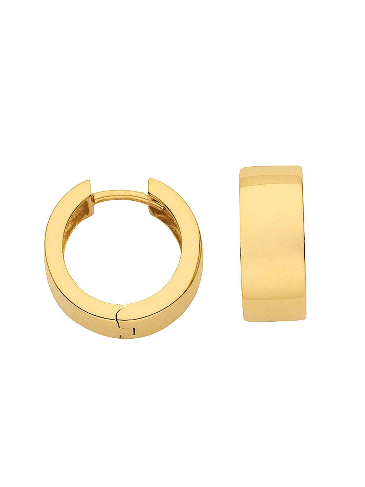 Adelia´s Paar Creolen »Gold 14 k (585) Ohrringe - Creolen« 14 k 585 Gelbgold Ø 1.5 cm