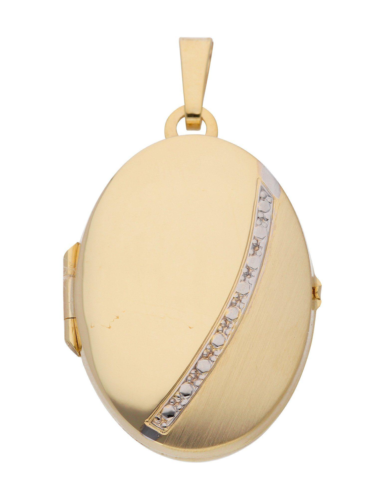 Adelia´s Kettenanhänger »Medaillon Gold Anhänger« 14 k 585 Gelbgold