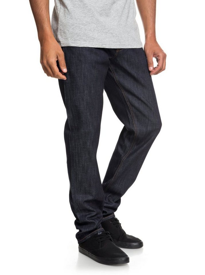 Herren Quiksilver Straight Fit Jeans Revolver Rinse blau | 03613373845290