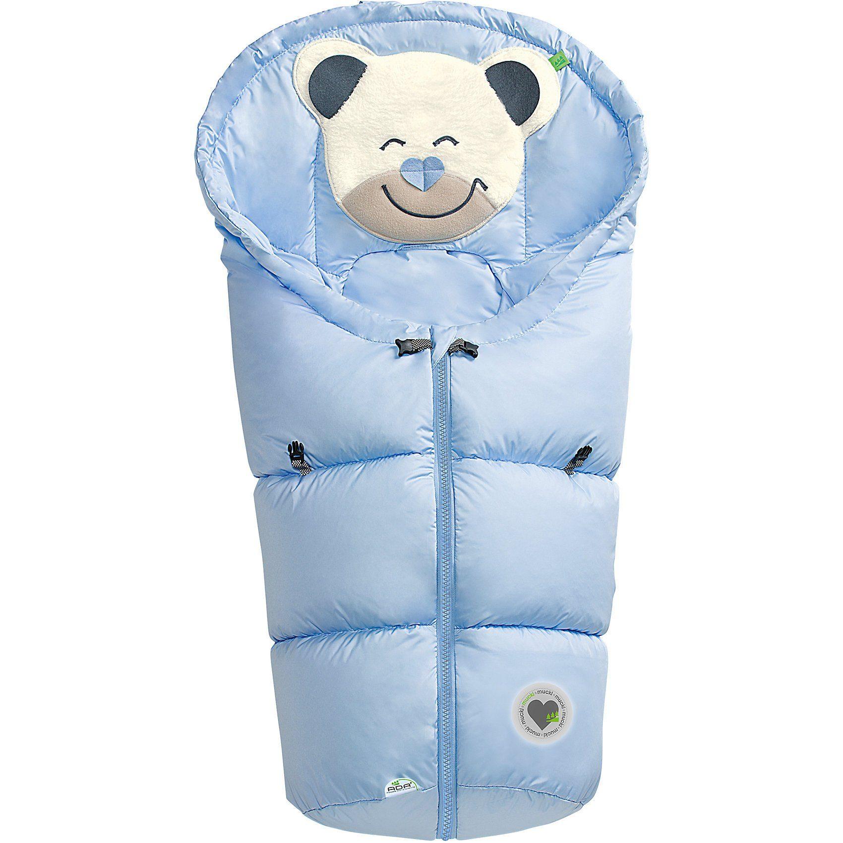 Odenwälder Fußsack Mucki für Babyschale und Kinderwagen, hellblau