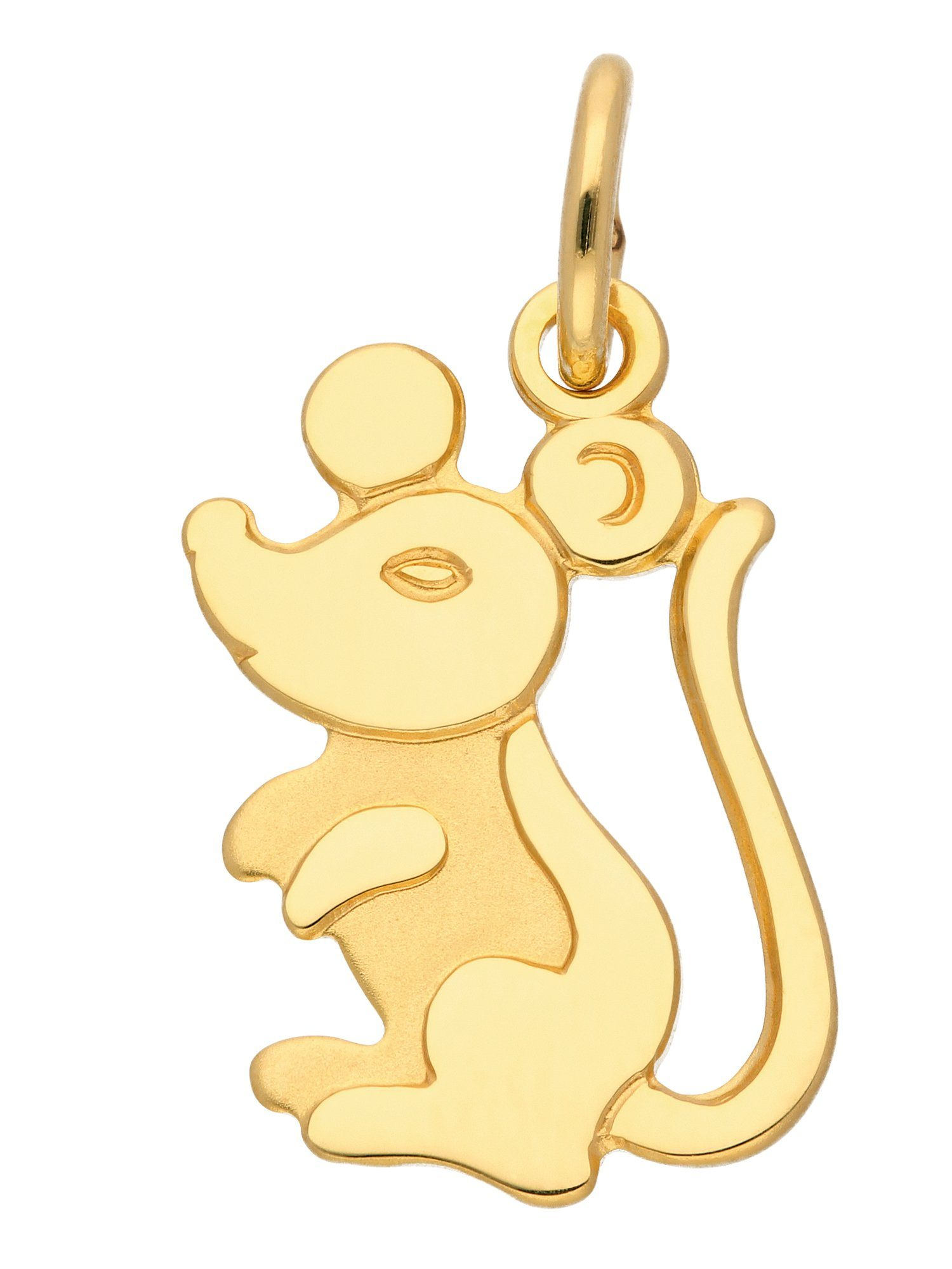 Adelia´s Kettenanhänger »Gold Anhänger« Maus 8 k 333 Gelbgold