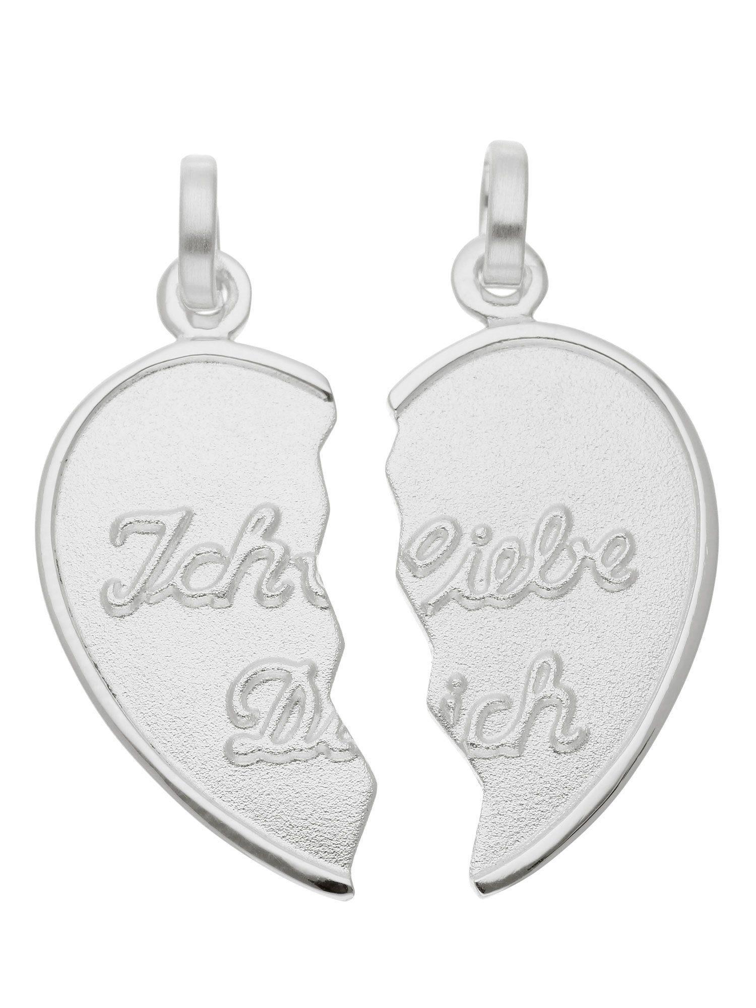 Adelia´s Kettenanhänger »Silber Anhänger« Partneranhänger 925 Sterling Silber