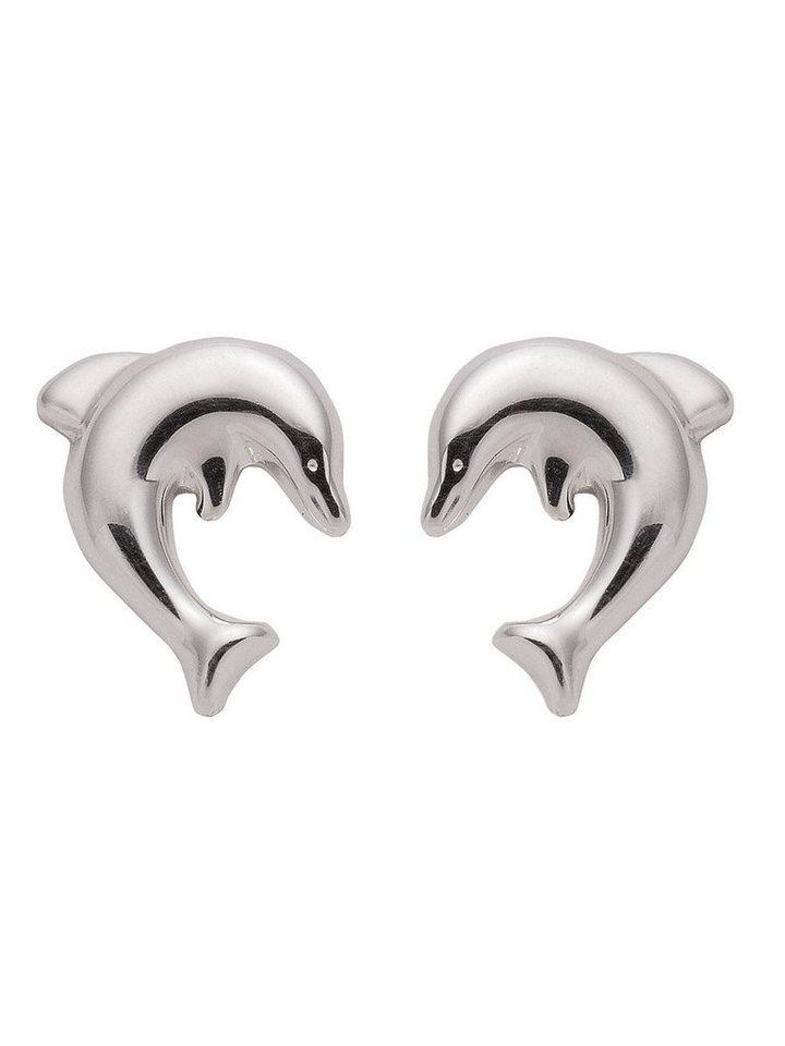 Adelia´s Paar Ohrstecker »Silber 925 Sterling Silver Ohrringe - Ohrstecker« Delphin 925 Sterling Silber | Schmuck > Ohrschmuck & Ohrringe > Ohrstecker | Adelia´s