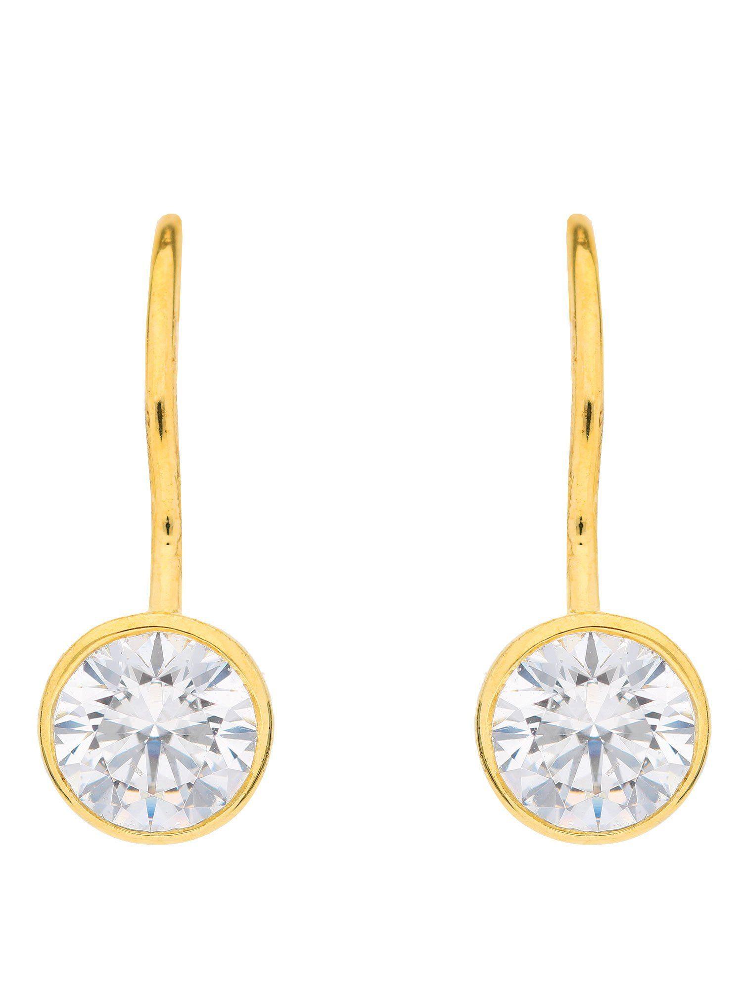 Adelia´s Paar Ohrhänger »Gold Ohrringe« 8 k 333 Gelbgold mit Zirkonia Ø 6.1 mm