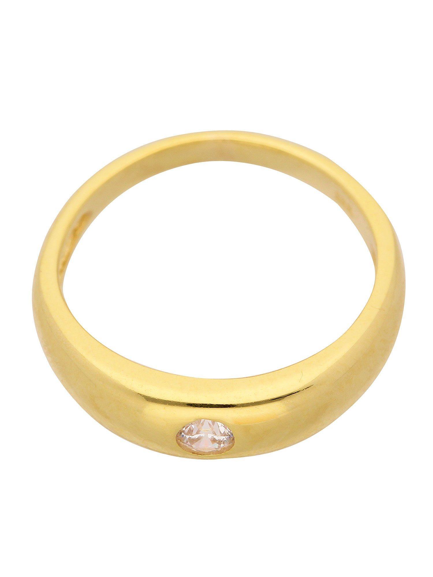 Adelia´s Kettenanhänger »Gold Anhänger«, Taufring 14 k 585 Gelbgold mit Zirkonia Ø 1.12 cm | Schmuck > Halsketten > Ketten ohne Anhänger | Adelia´s