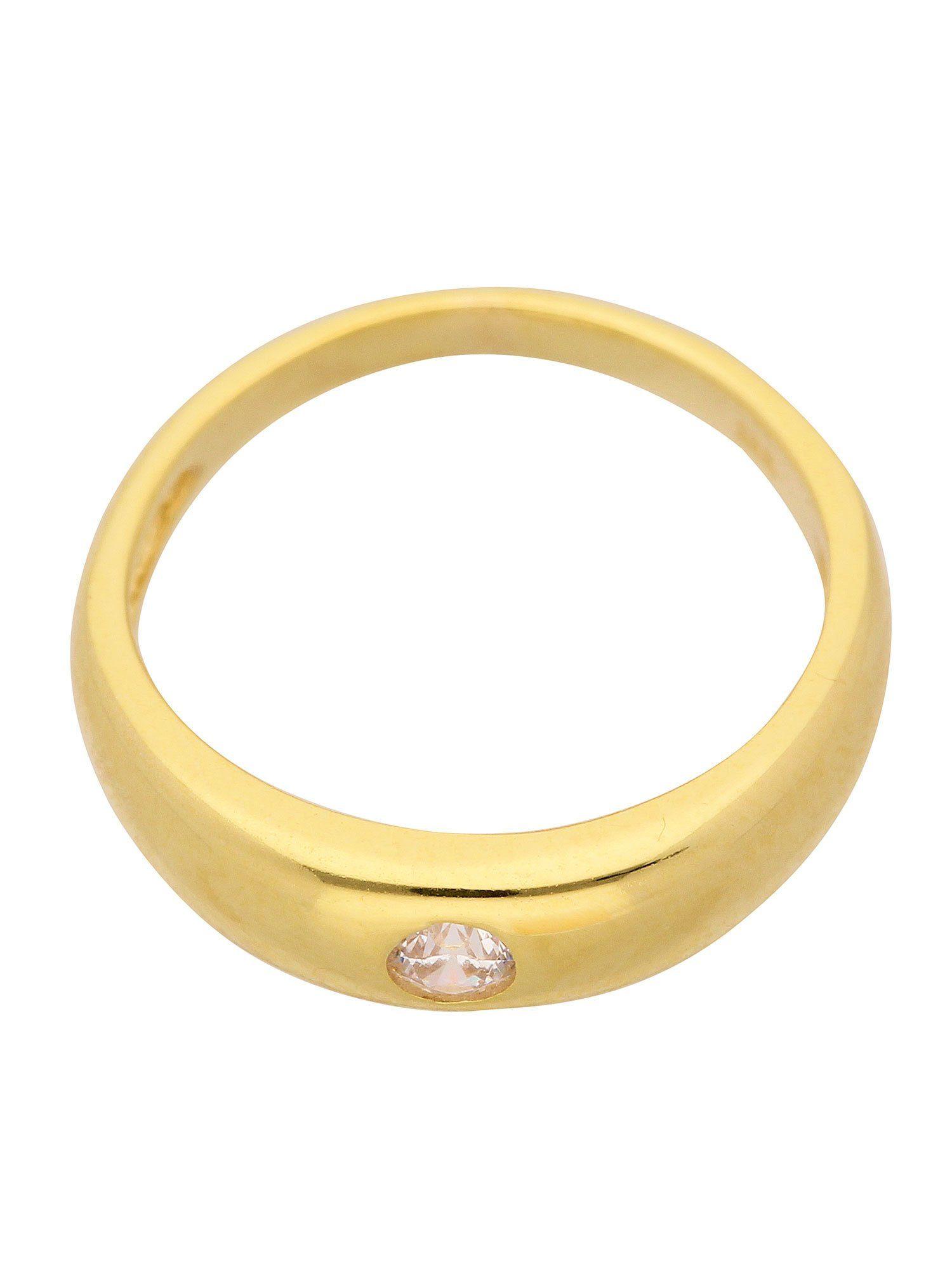 Adelia´s Kettenanhänger »Gold 14 k (585) Motiv - Anhänger« Taufring 14 k 585 Gelbgold mit Zirkonia Ø 1.12 cm