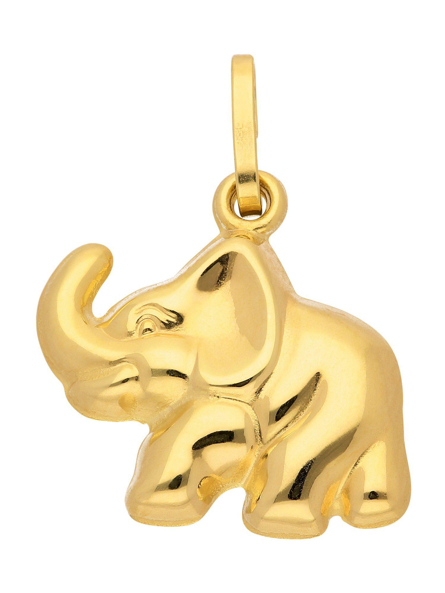 Adelia´s Kettenanhänger »Gold Anhänger« Elefant 8 k 333 Gelbgold